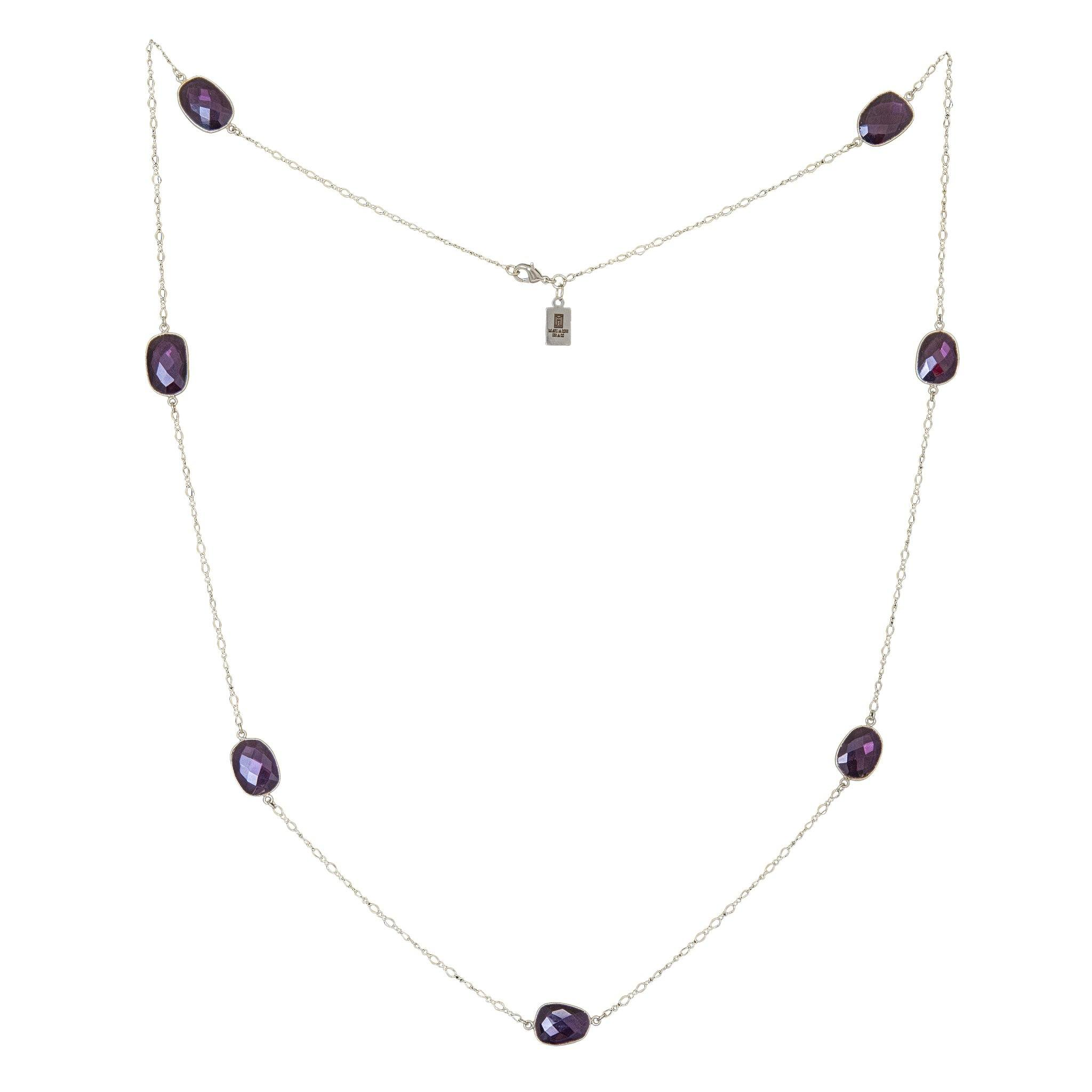MOUSSON amethyst silver necklace - MadamSiam