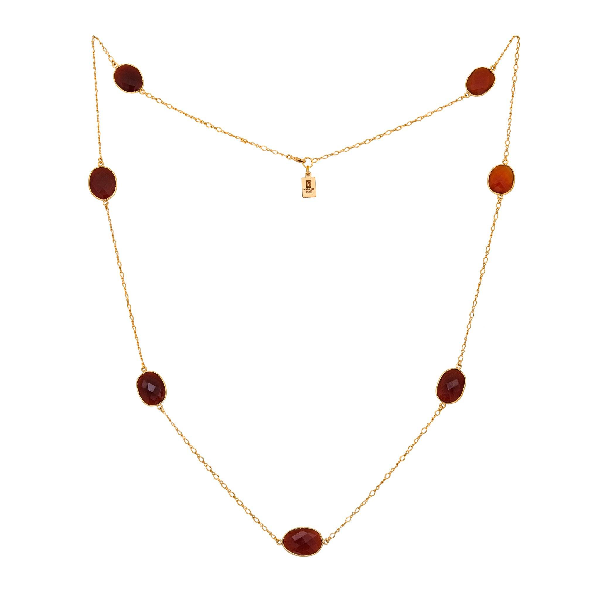 MOUSSON carnelian Necklace - MadamSiam