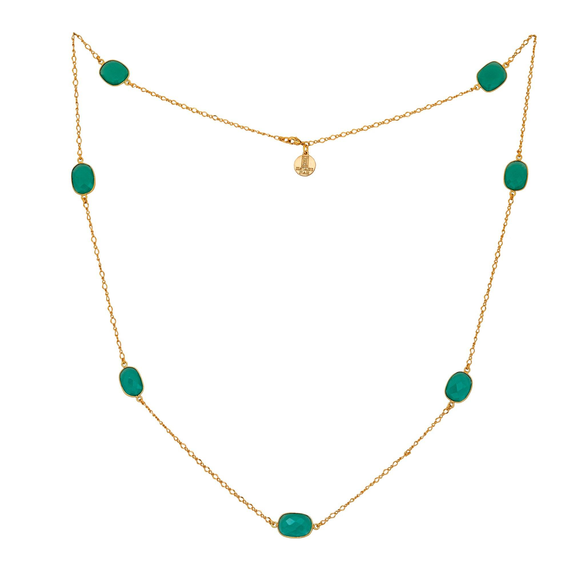 MOUSSON green chalcedony  Necklace - MadamSiam