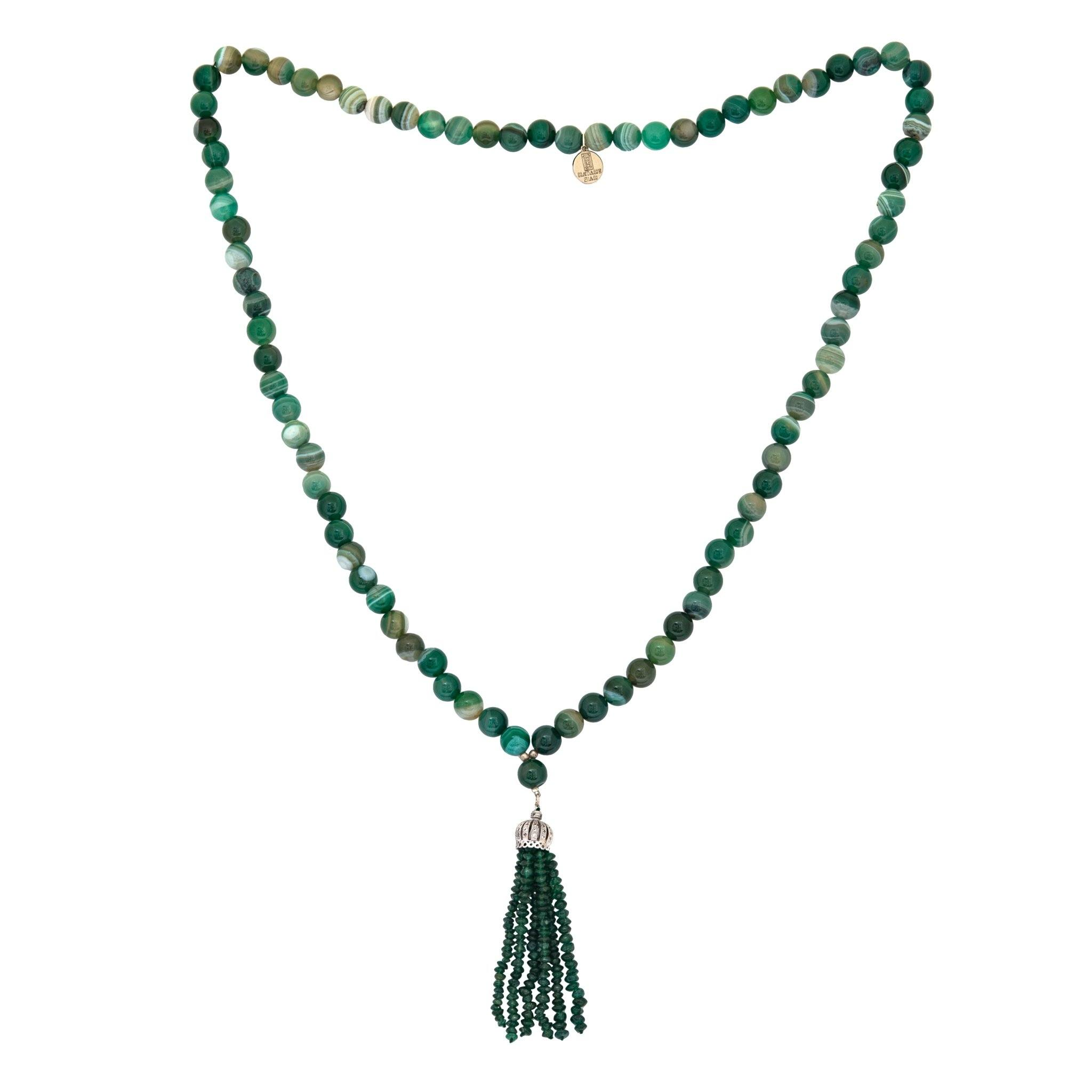 STONA green agate turkish style necklace - MadamSiam