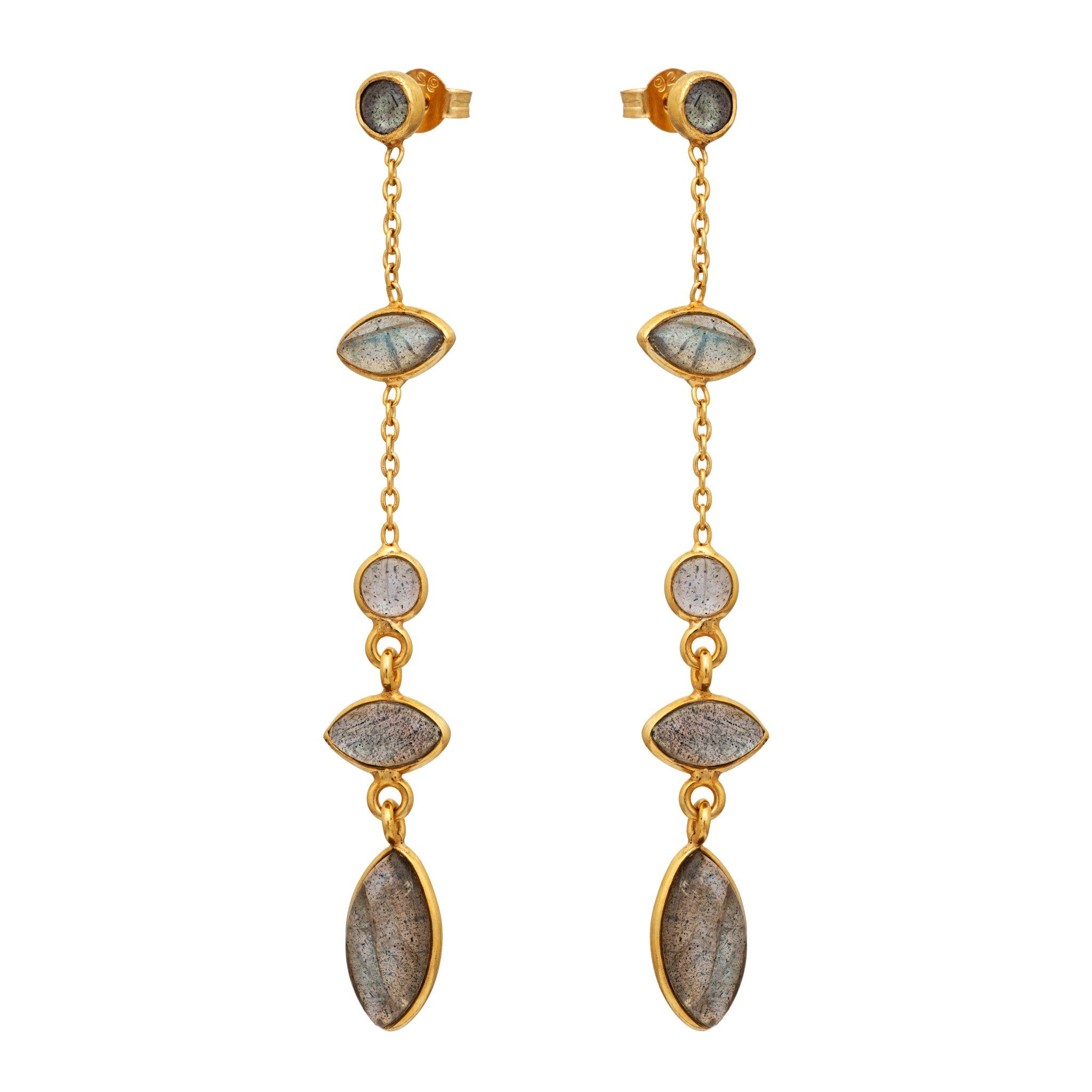 TA labradorite earrings - MadamSiam