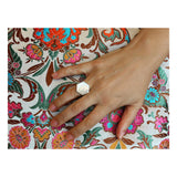 REKHA mother of pearl ring - MadamSiam