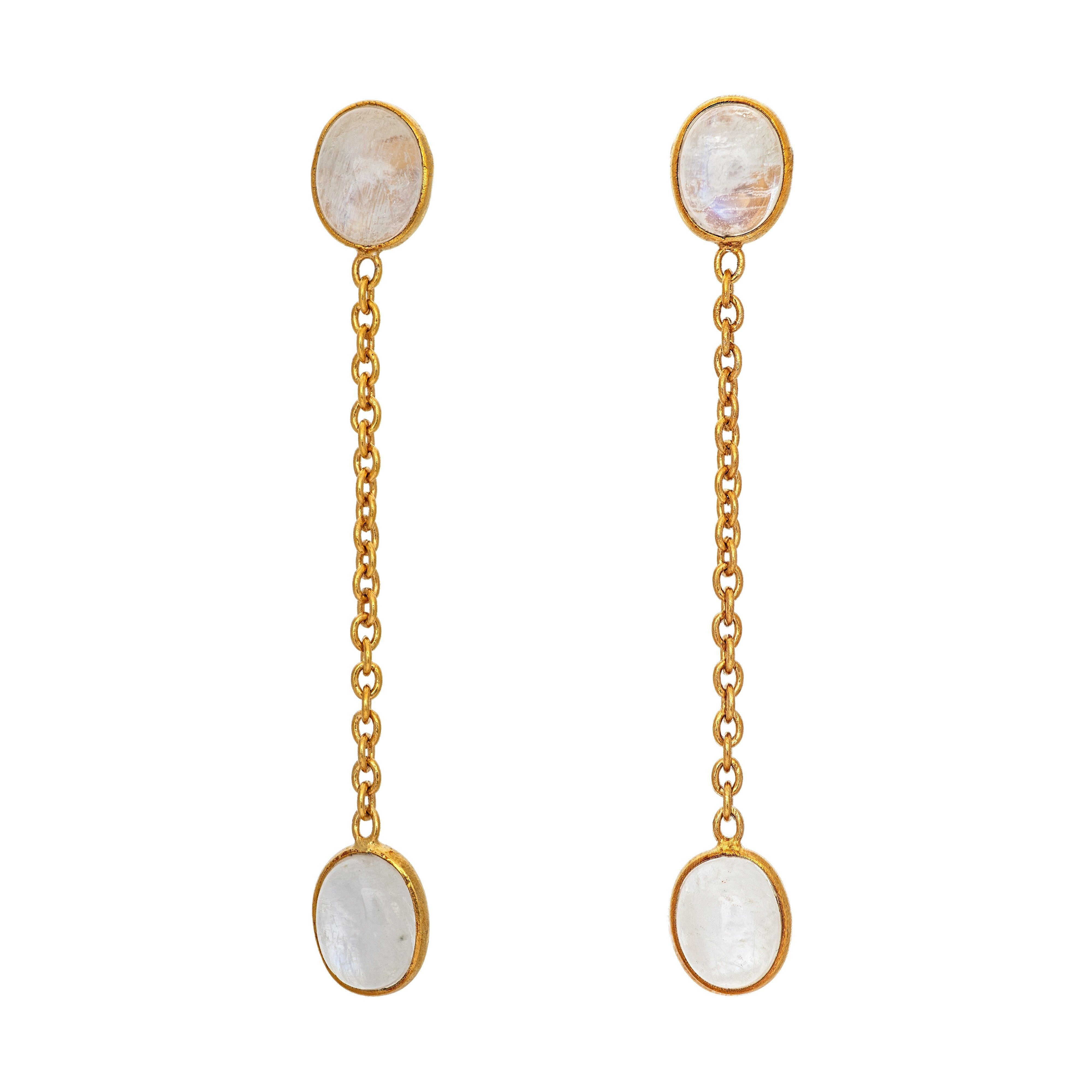 FUTA moonstone earrings - MadamSiam