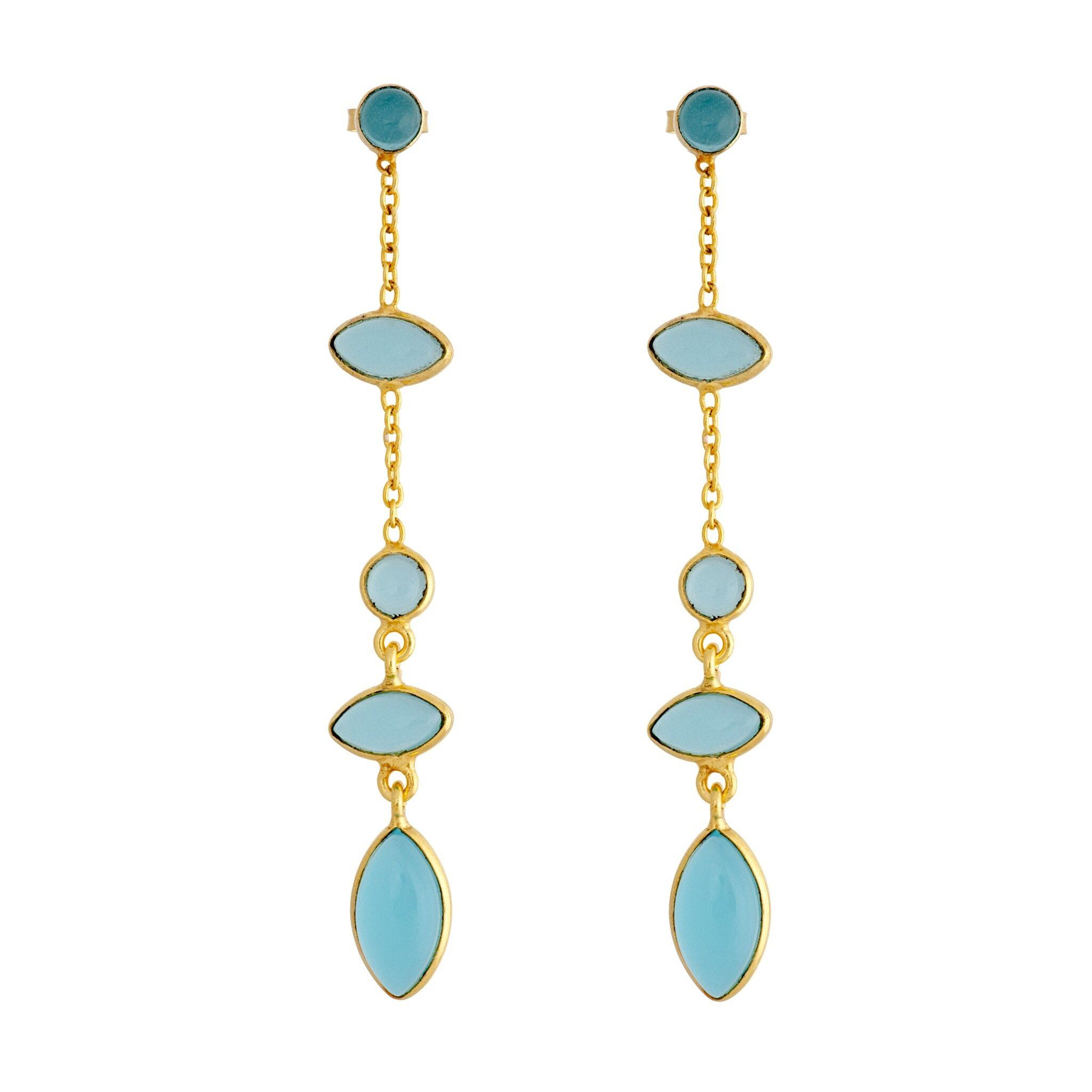 TA blue chalcedony earrings - MadamSiam