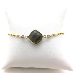 MOUSSON labradorite vermeil bracelet - MadamSiam