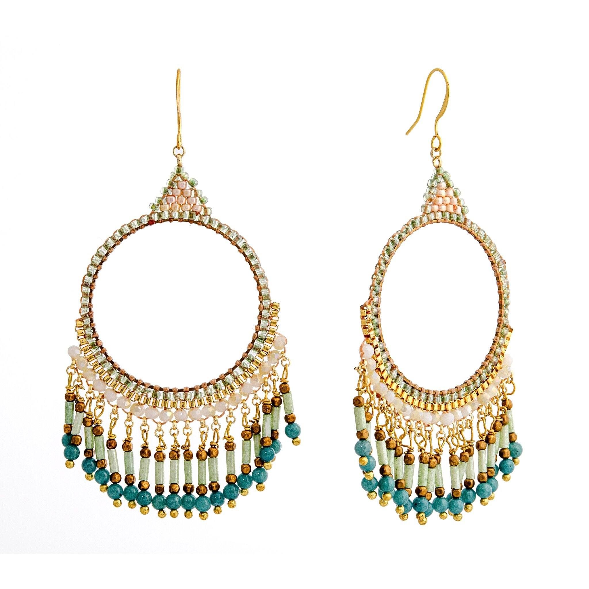BOHEMIA aqua earrings - MadamSiam