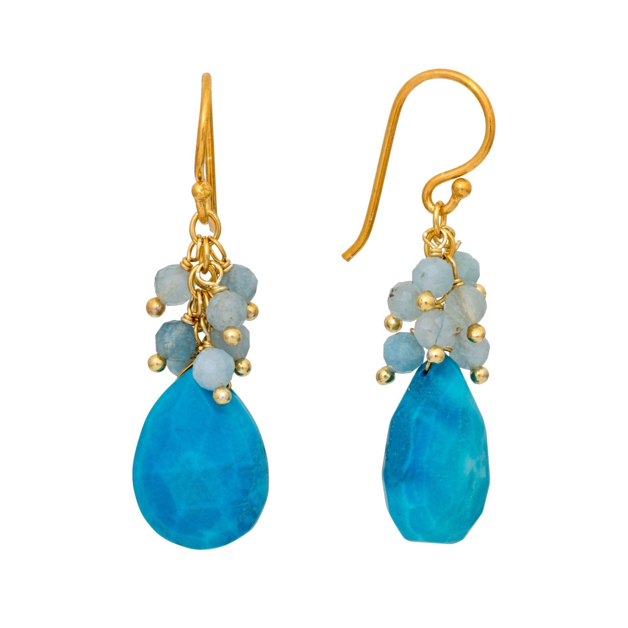 GRAPA turquoise earrings - MadamSiam