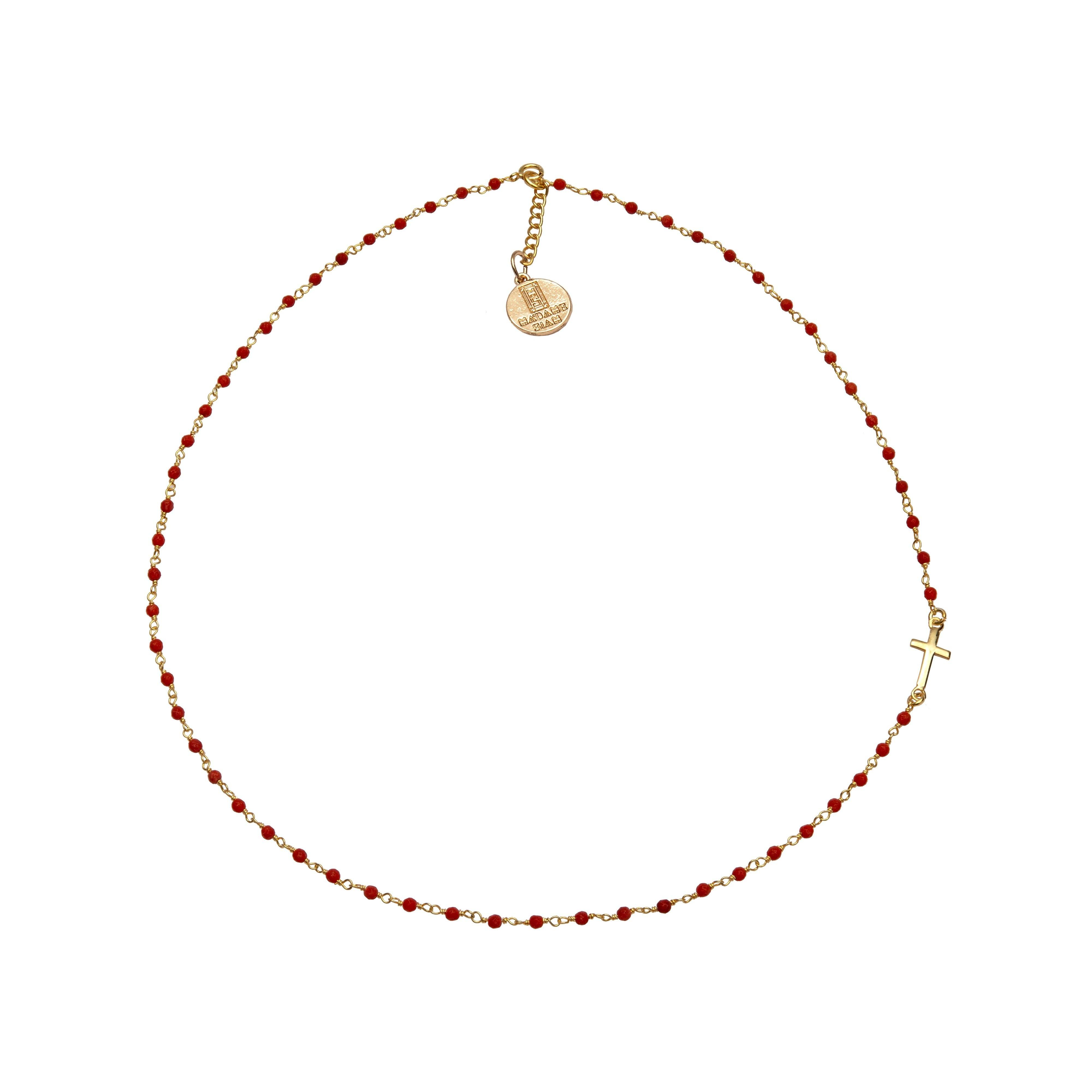 SIXTINE coral chocker - MadamSiam
