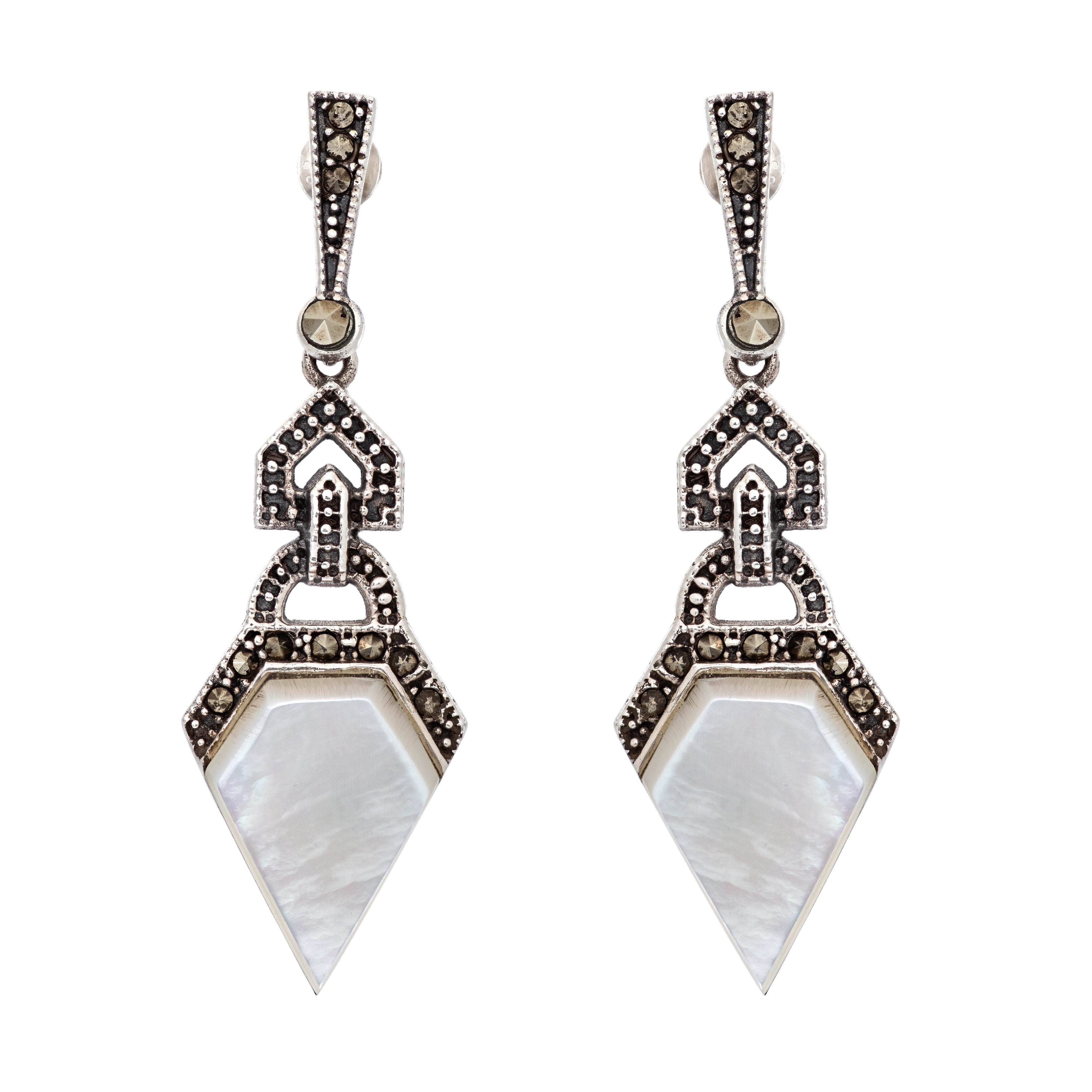 ASTORIA mother of pearl earrings - MadamSiam