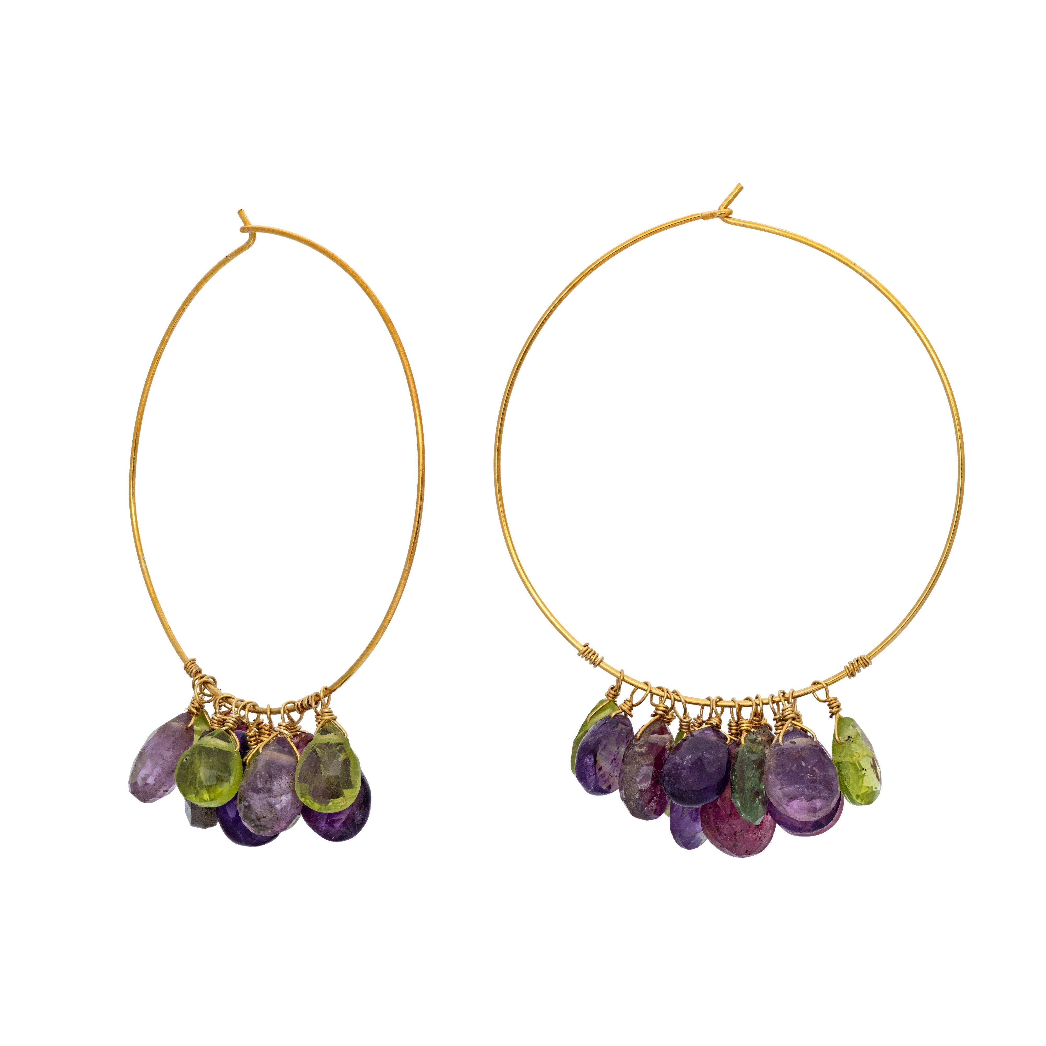 NAHM multicolor fall big hoops - MadamSiam