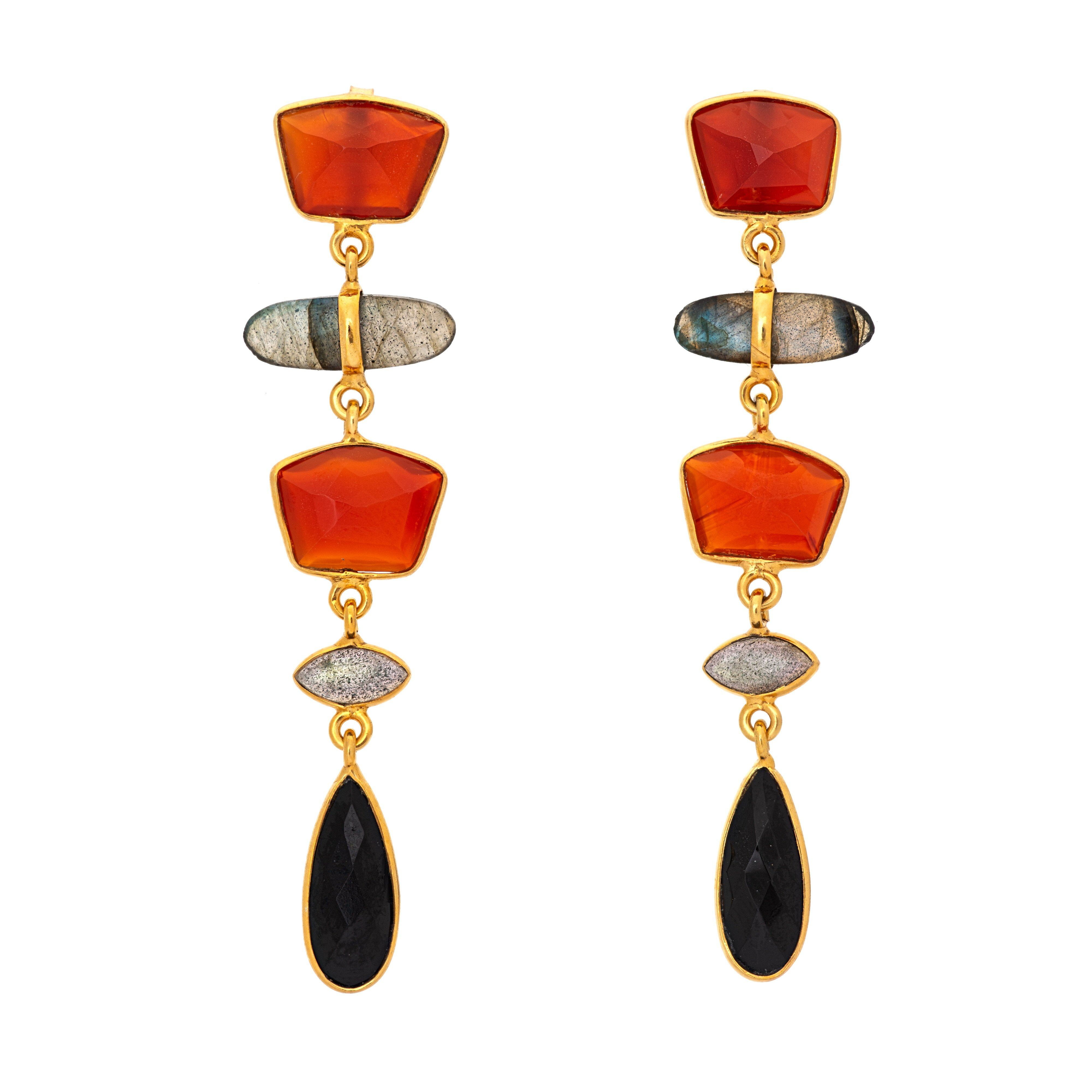 UDAIPUR onyx winter earrings - MadamSiam