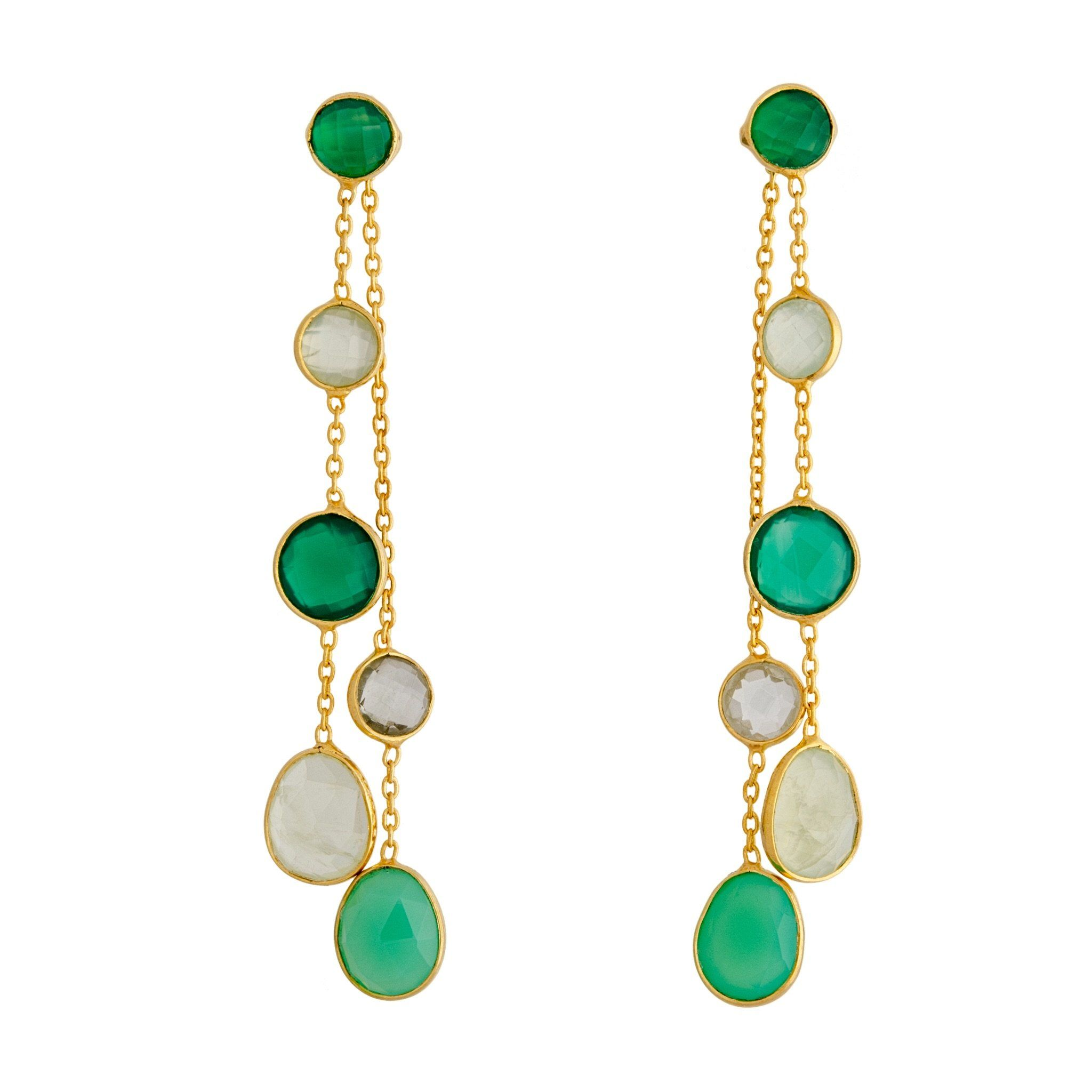 BUA green onyx earrings - MadamSiam