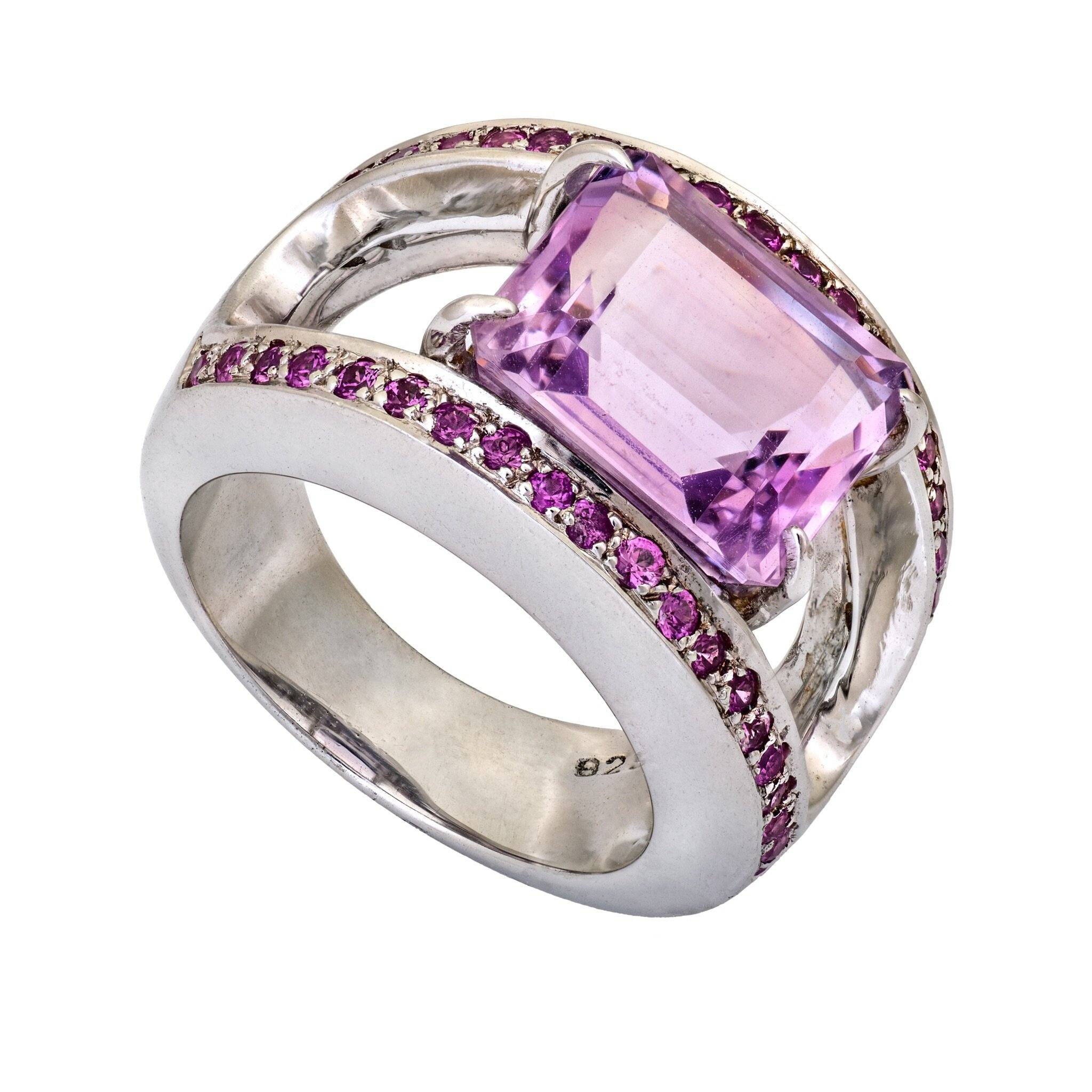 CHICAGO pink amethyst ring - MadamSiam