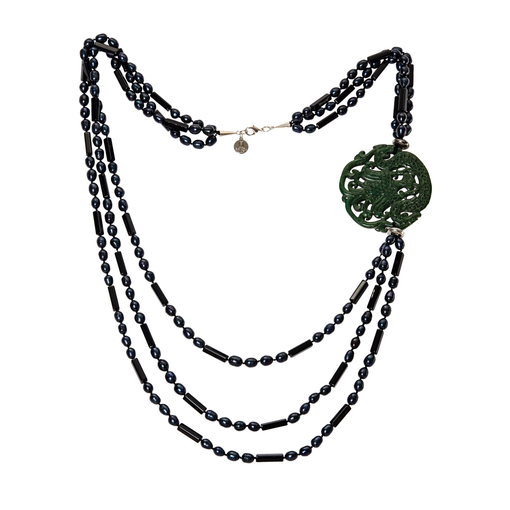 MEKONG grey pearls necklace