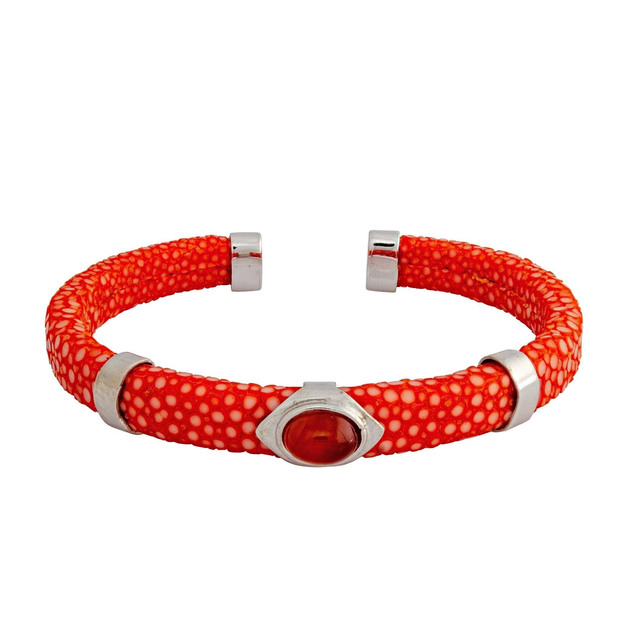 JAVA carnelian and stingray bangle - MadamSiam