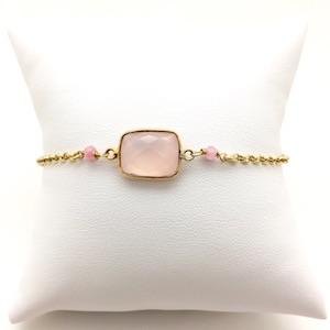 MOUSSON rose quartz vermeil bracelet - MadamSiam