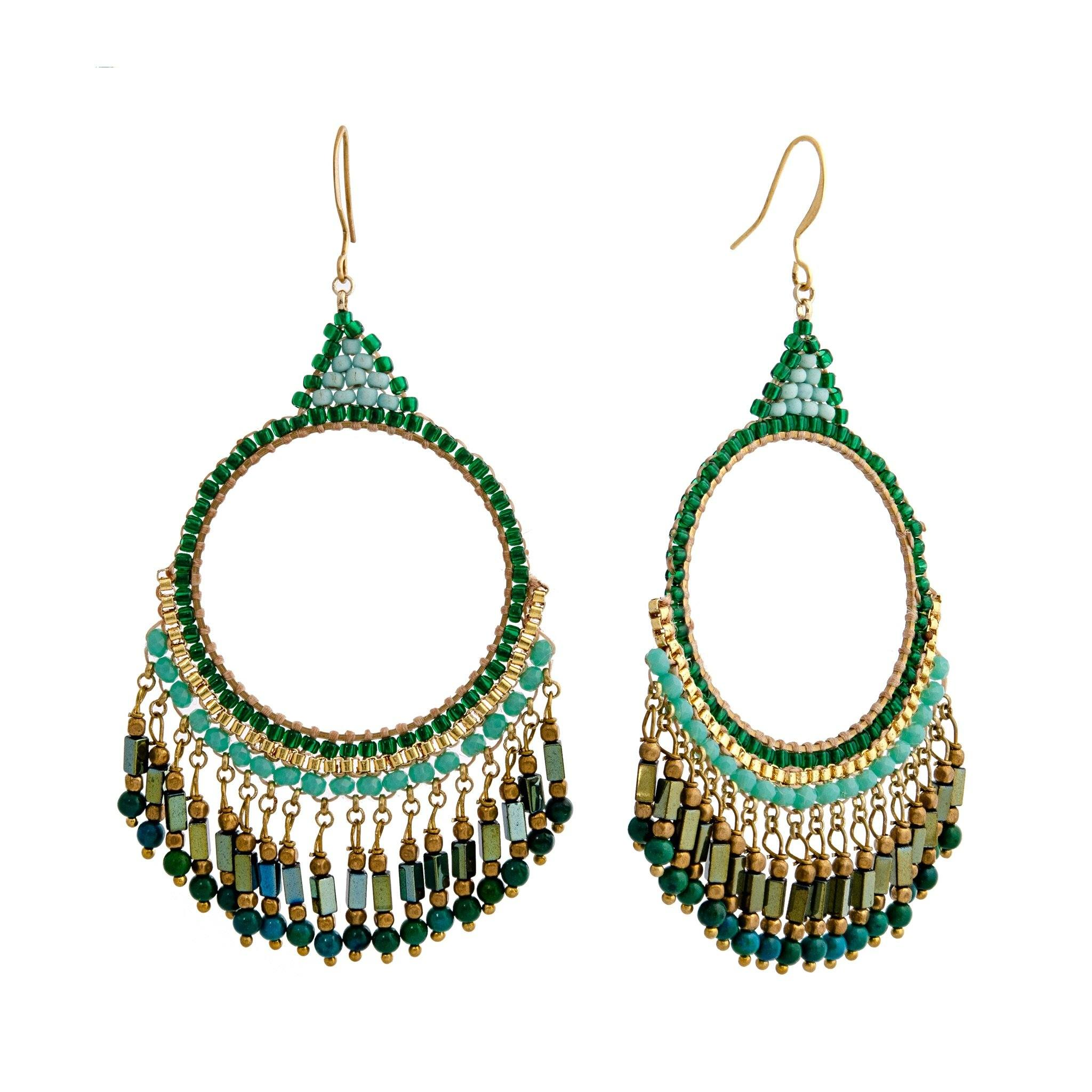 BOHEMIA green earrings - MadamSiam