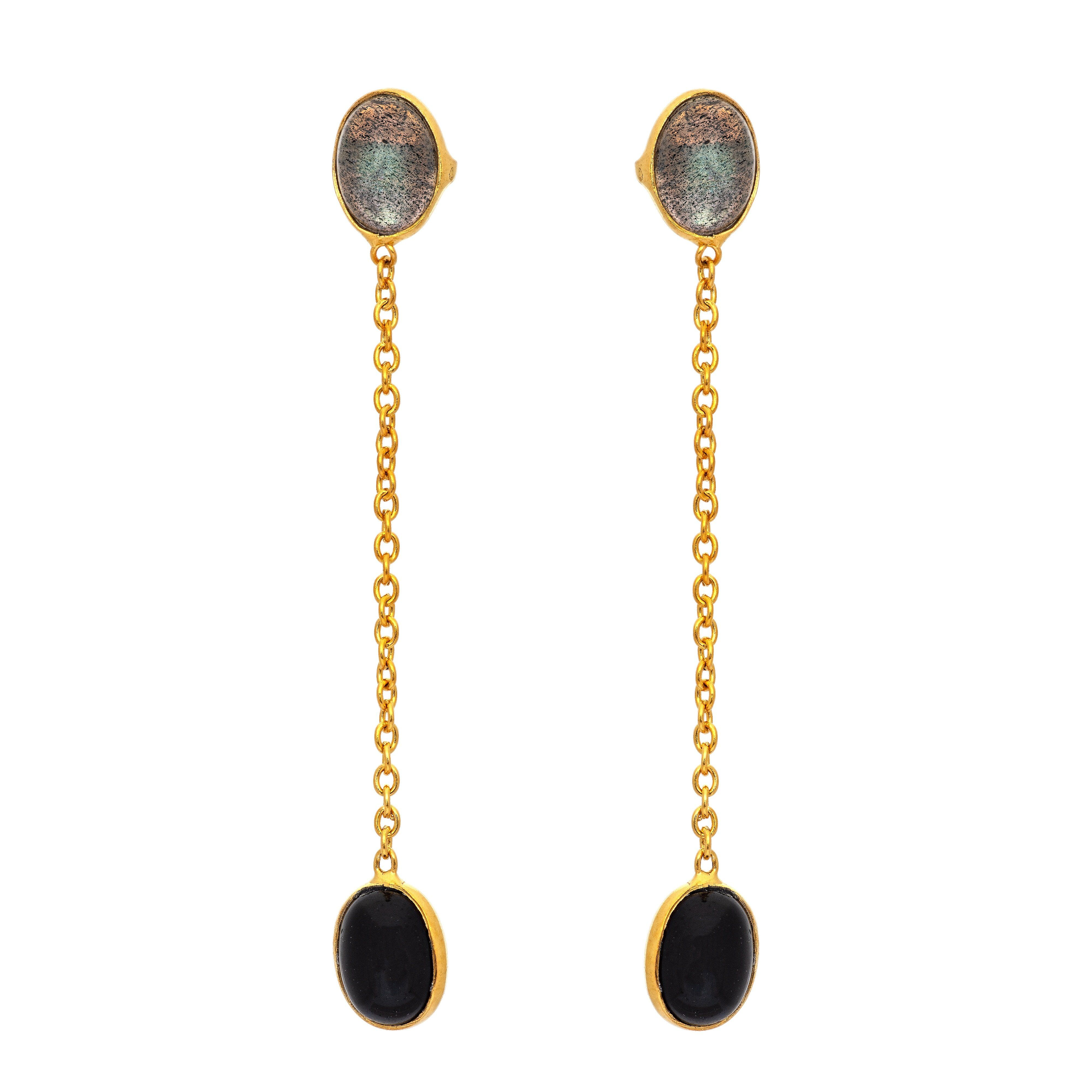 FUTA Black onyx earrings - MadamSiam