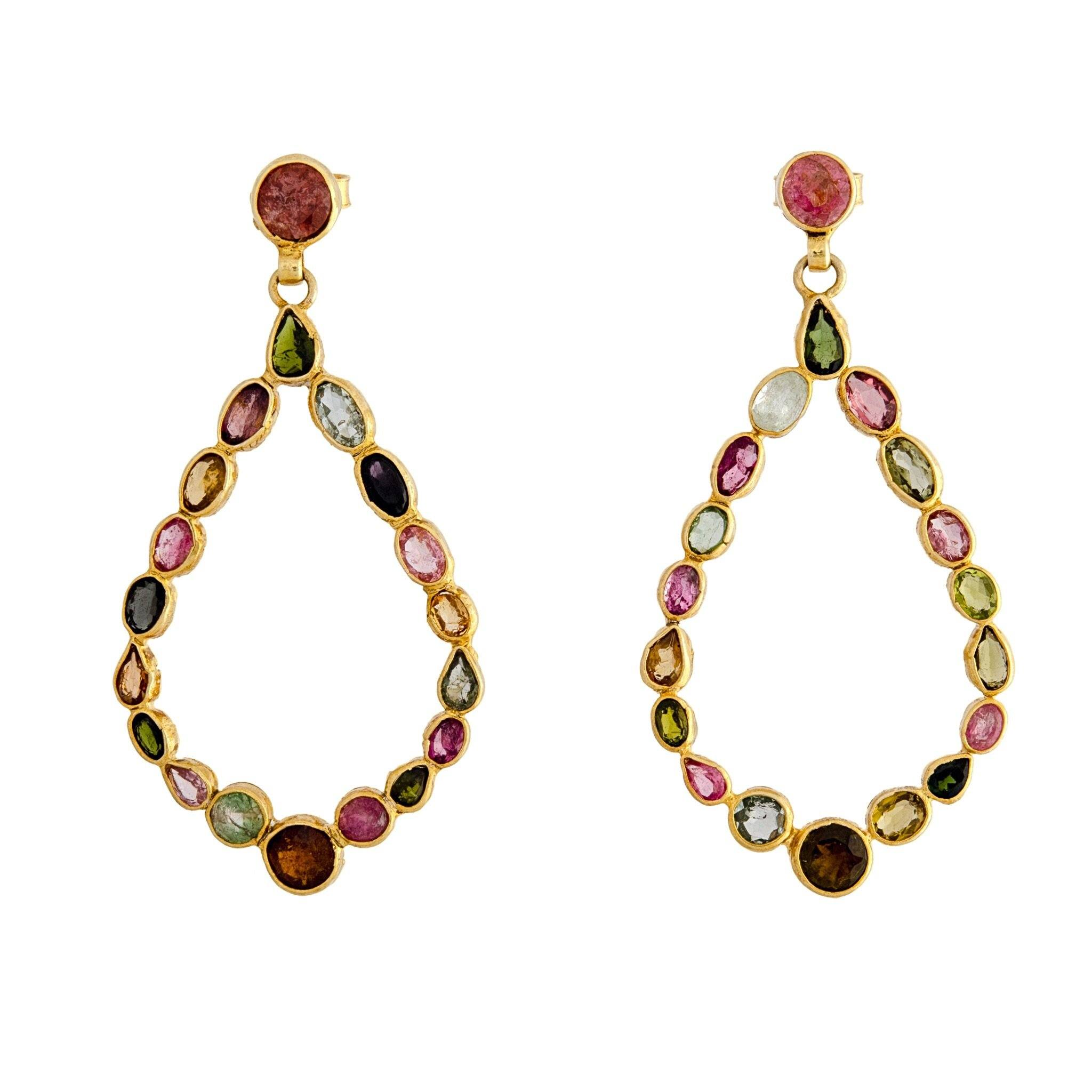 MILA tourmaline earrings - MadamSiam