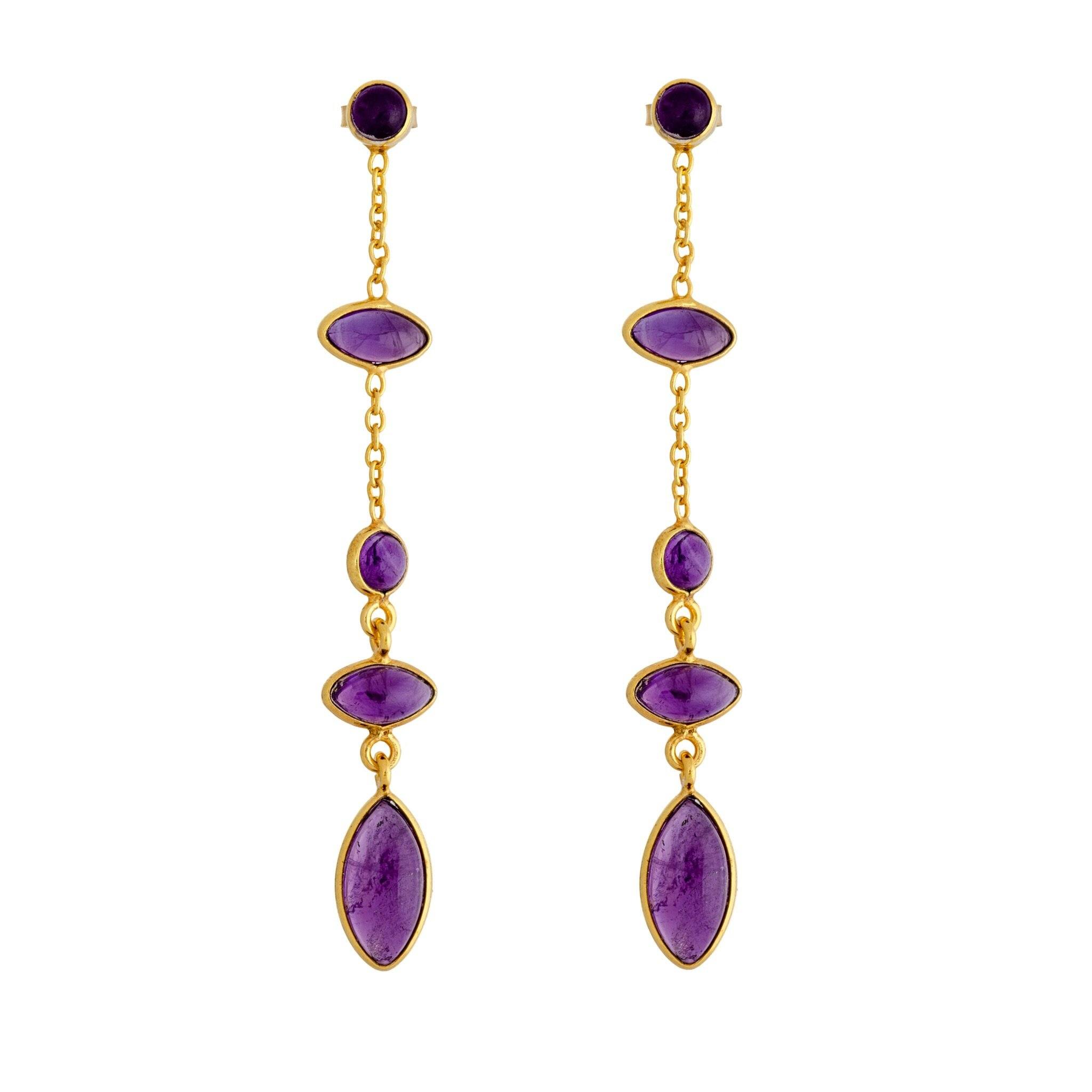 TA amethyst earrings - MadamSiam