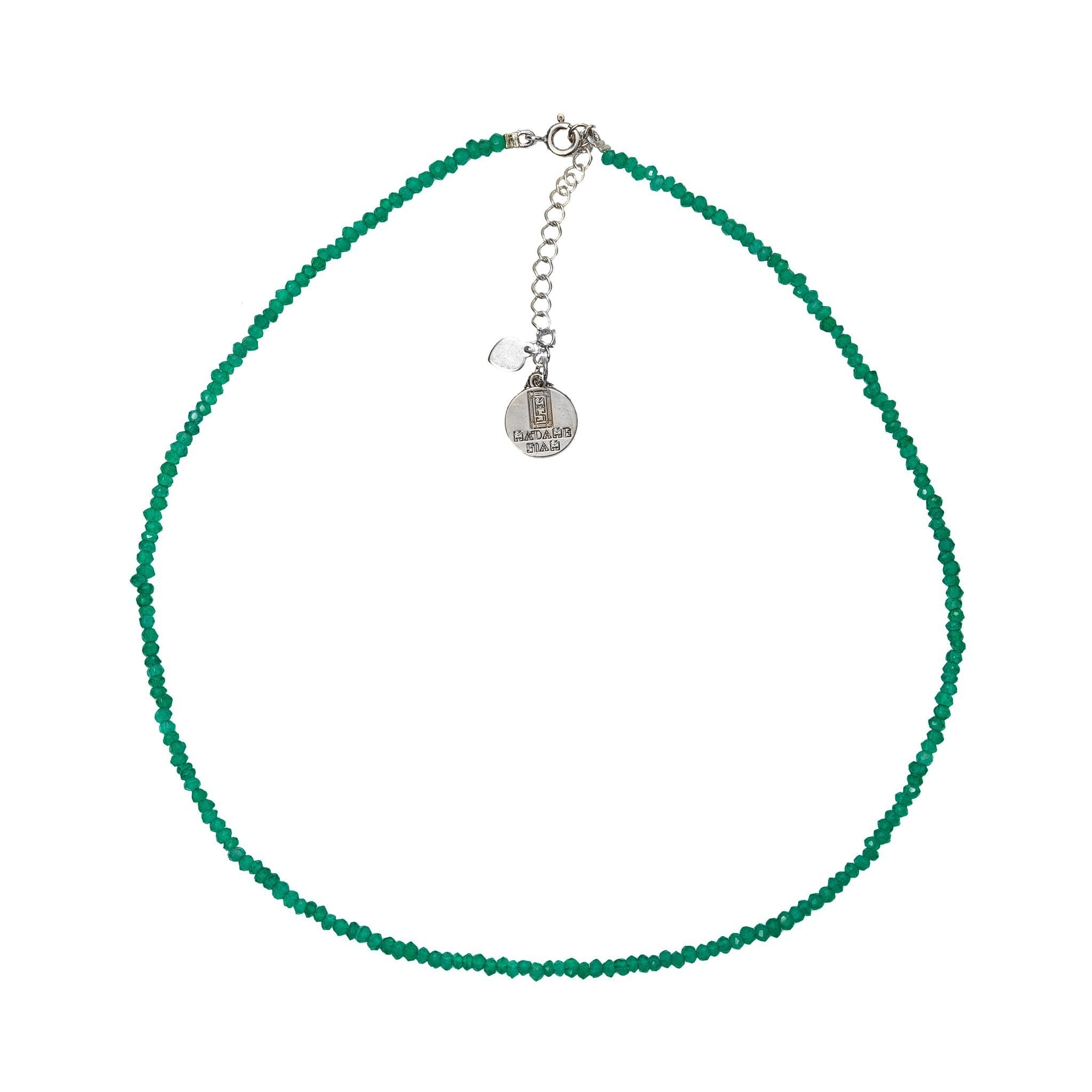MINIMA green onyx chocker - MadamSiam