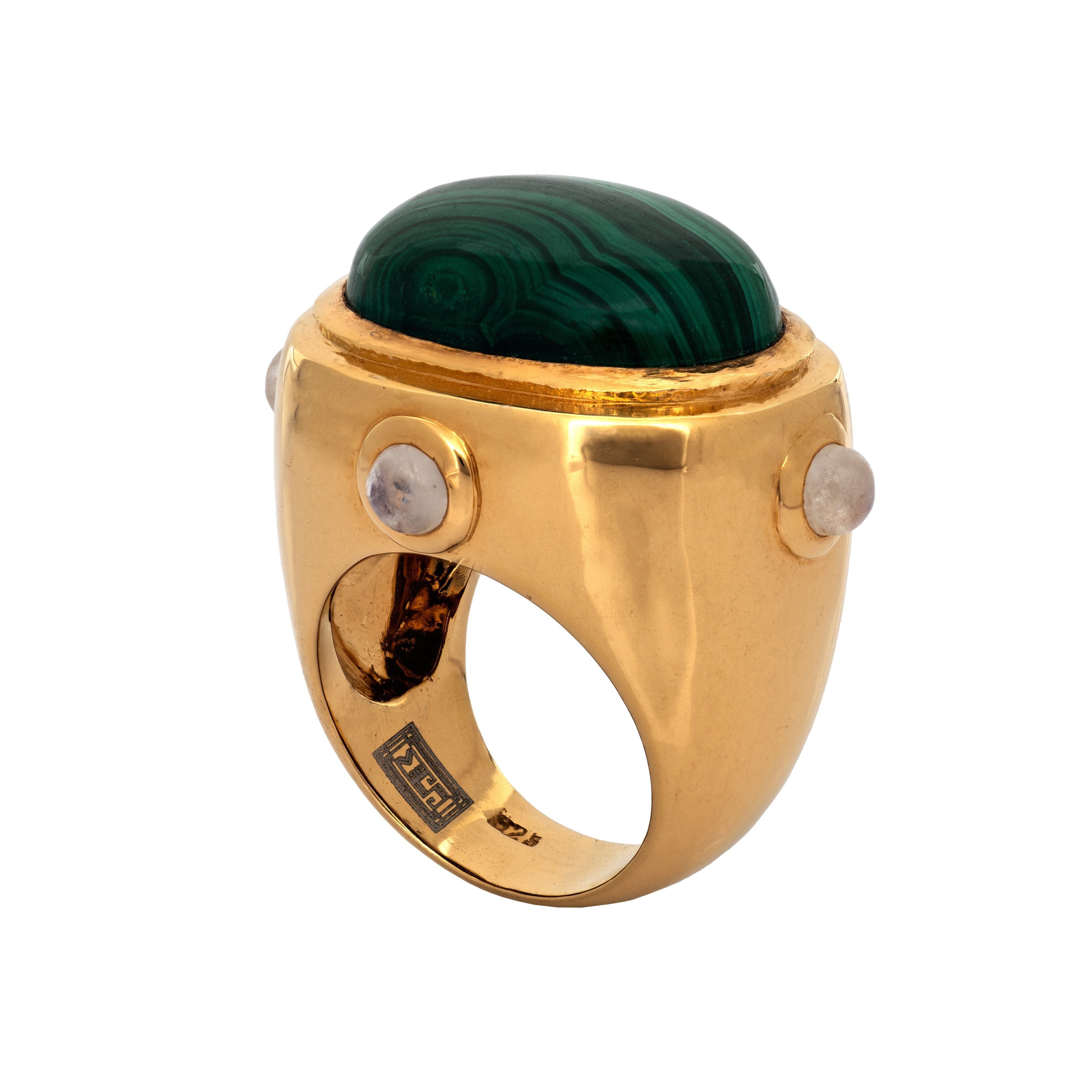 SPHESA malachite ring - MadamSiam