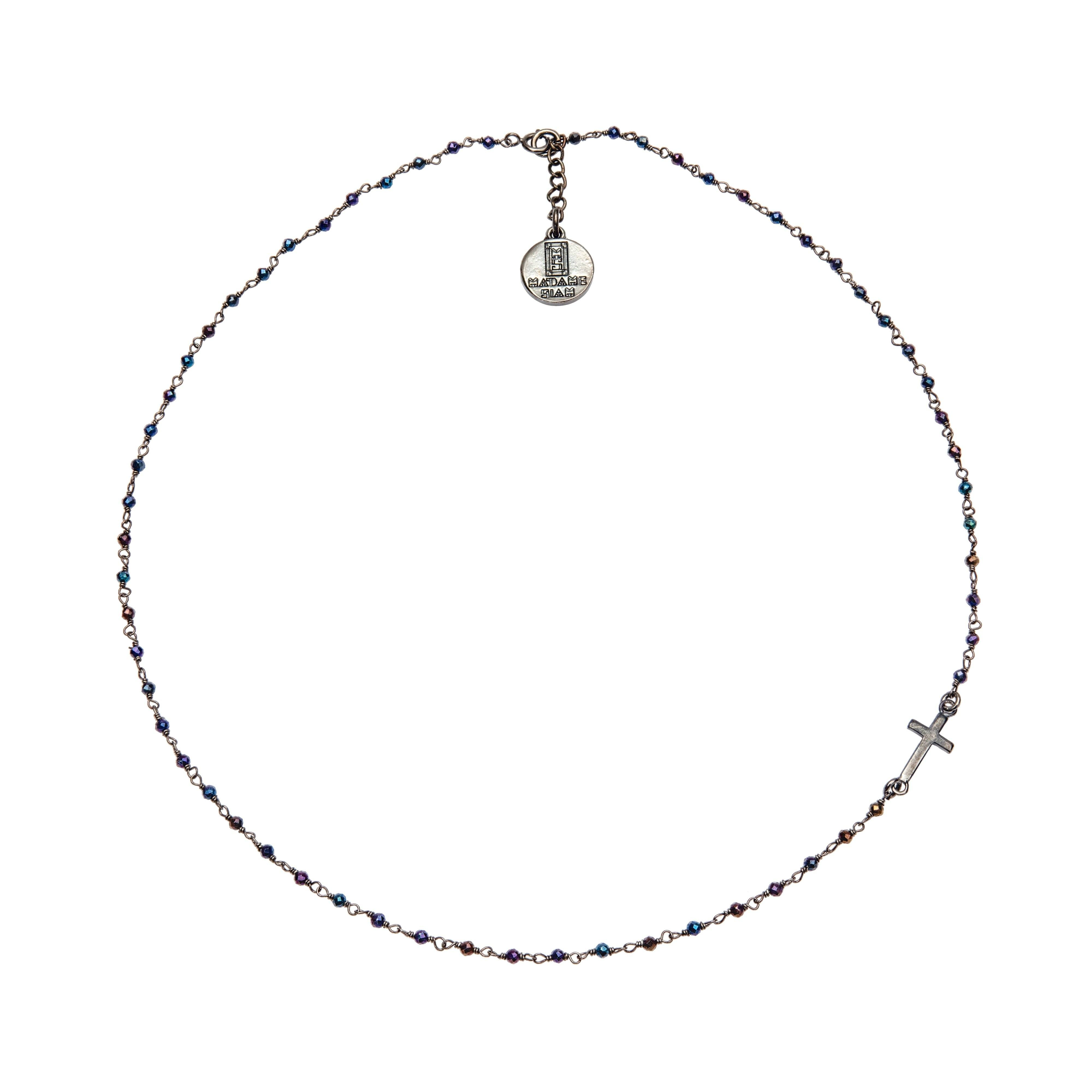 SIXTINE rhodium chocker - MadamSiam