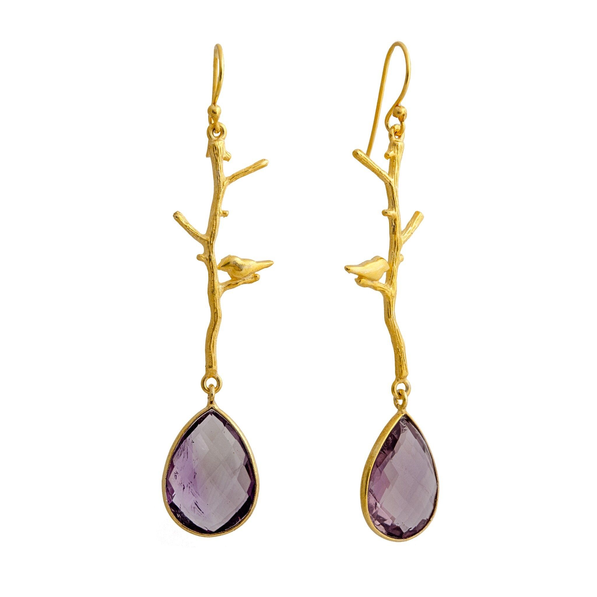 NOK amethyst earrings - MadamSiam