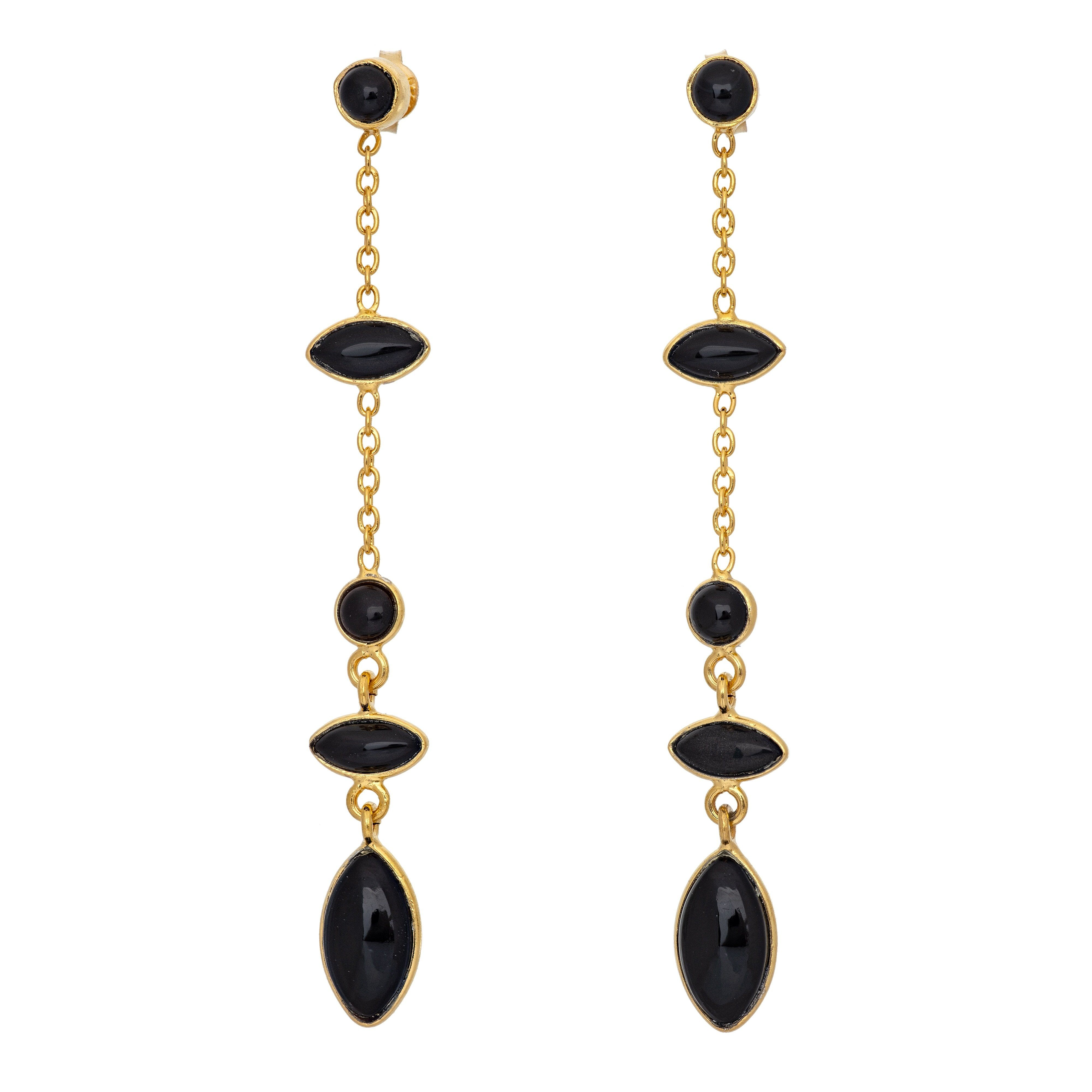 TA black onyx earrings - MadamSiam