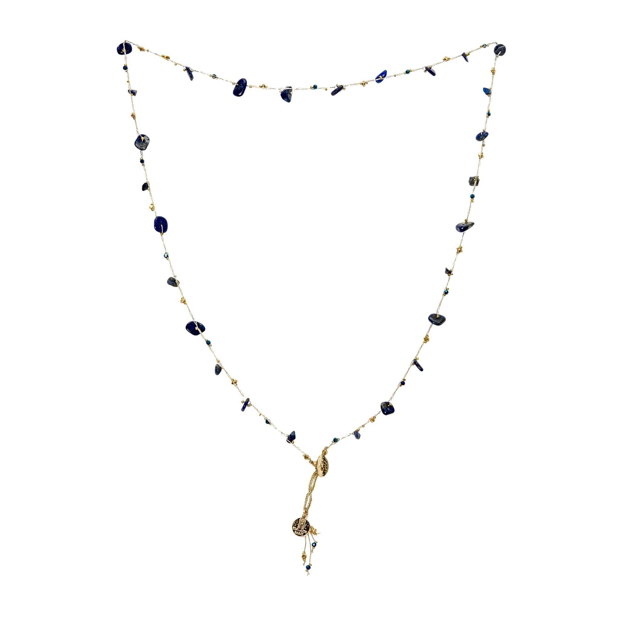 LUKA sodalite necklace - MadamSiam