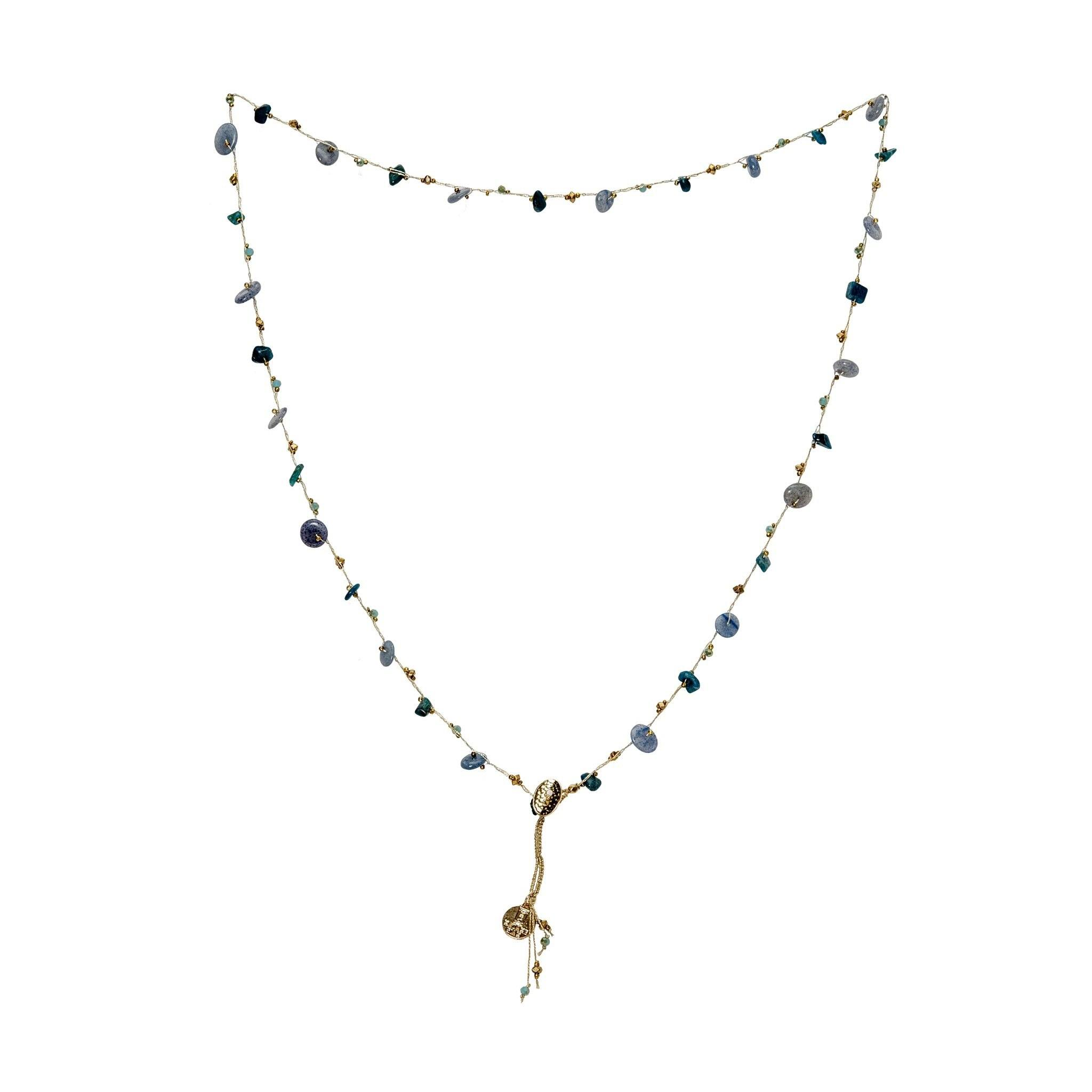 LUKA blue chalcedony necklace - MadamSiam