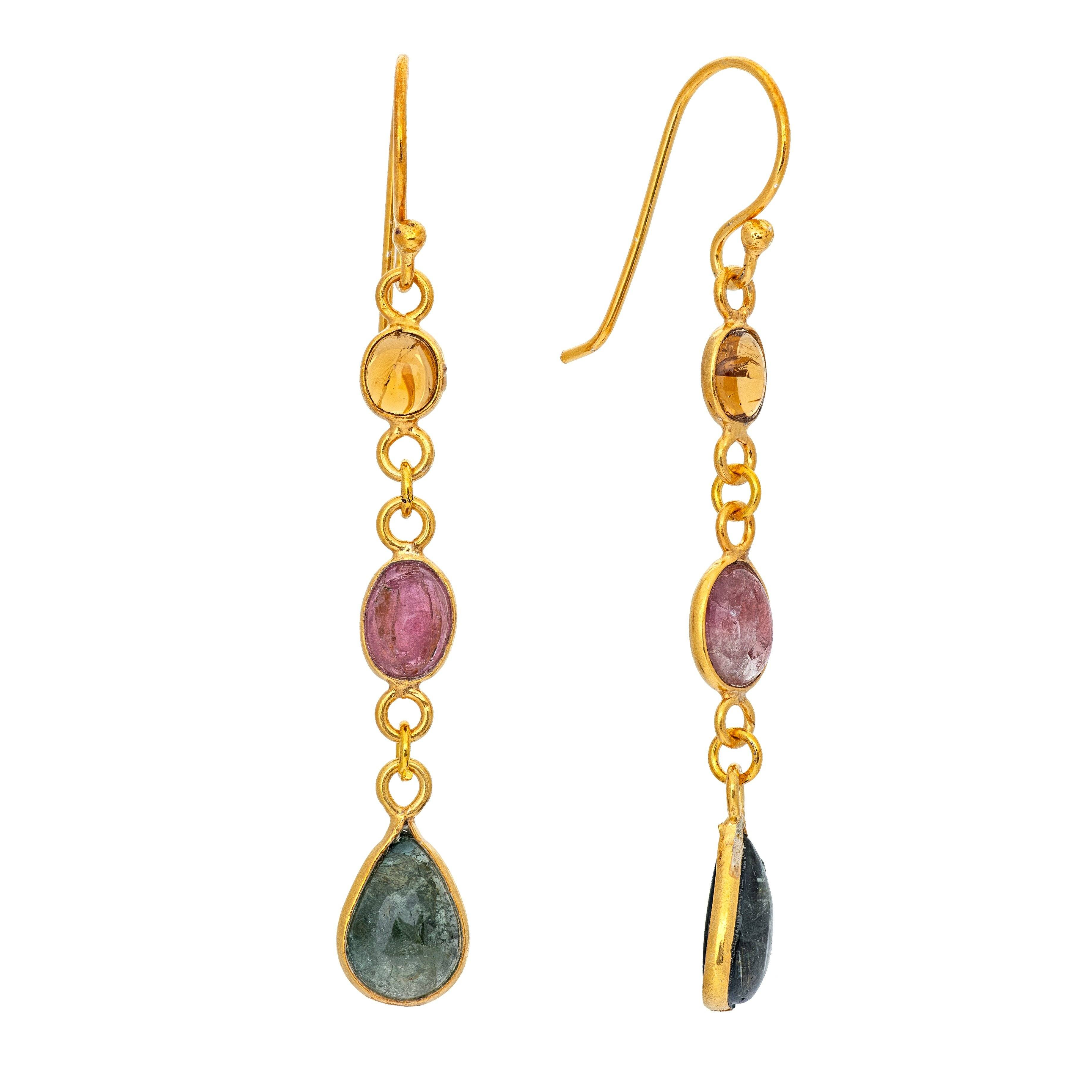 NAÏ tourmaline earrings - MadamSiam