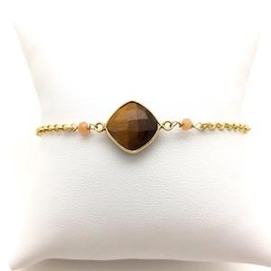 MOUSSON Tigers eye vermeil bracelet - MadamSiam
