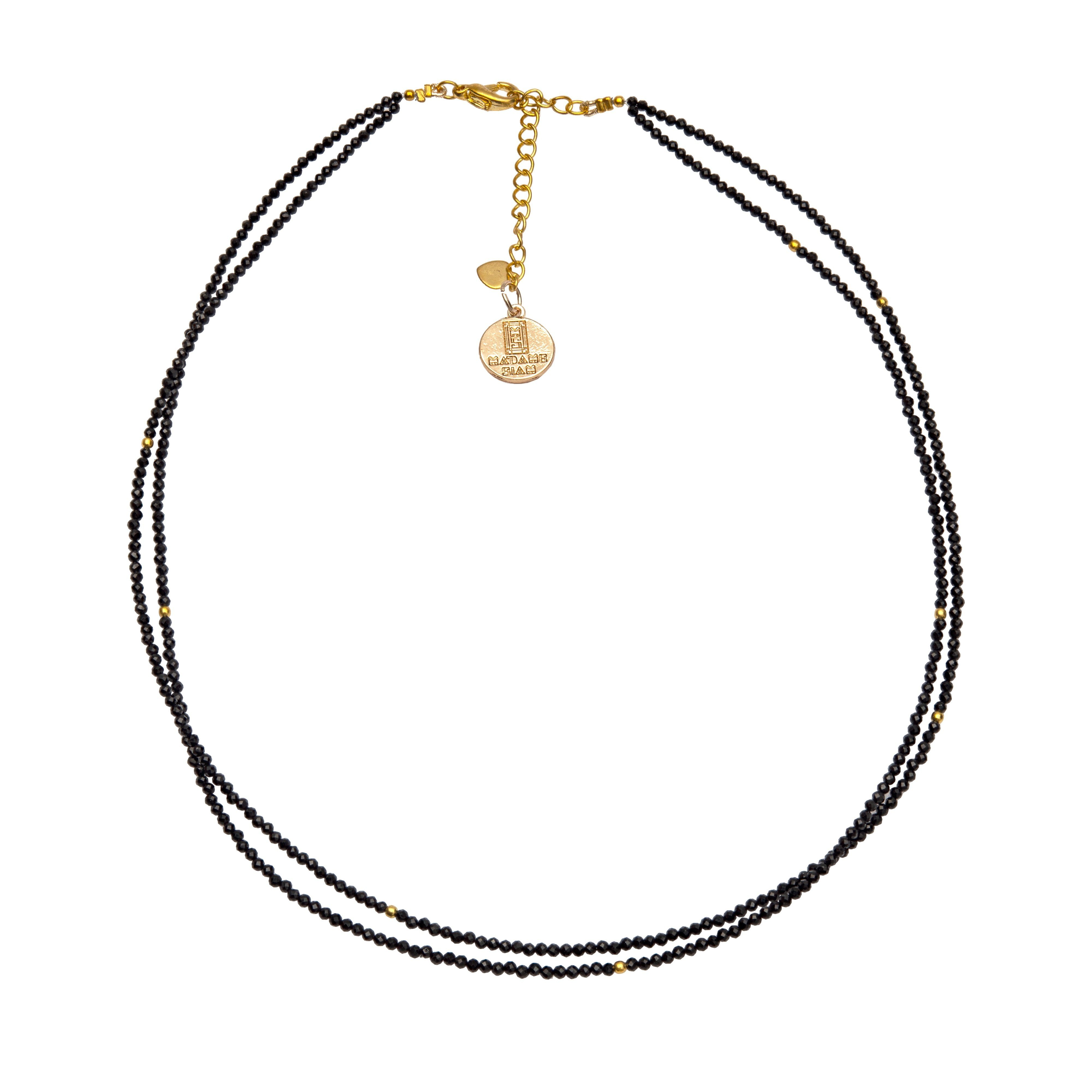 KA black onyx double chocker - MadamSiam