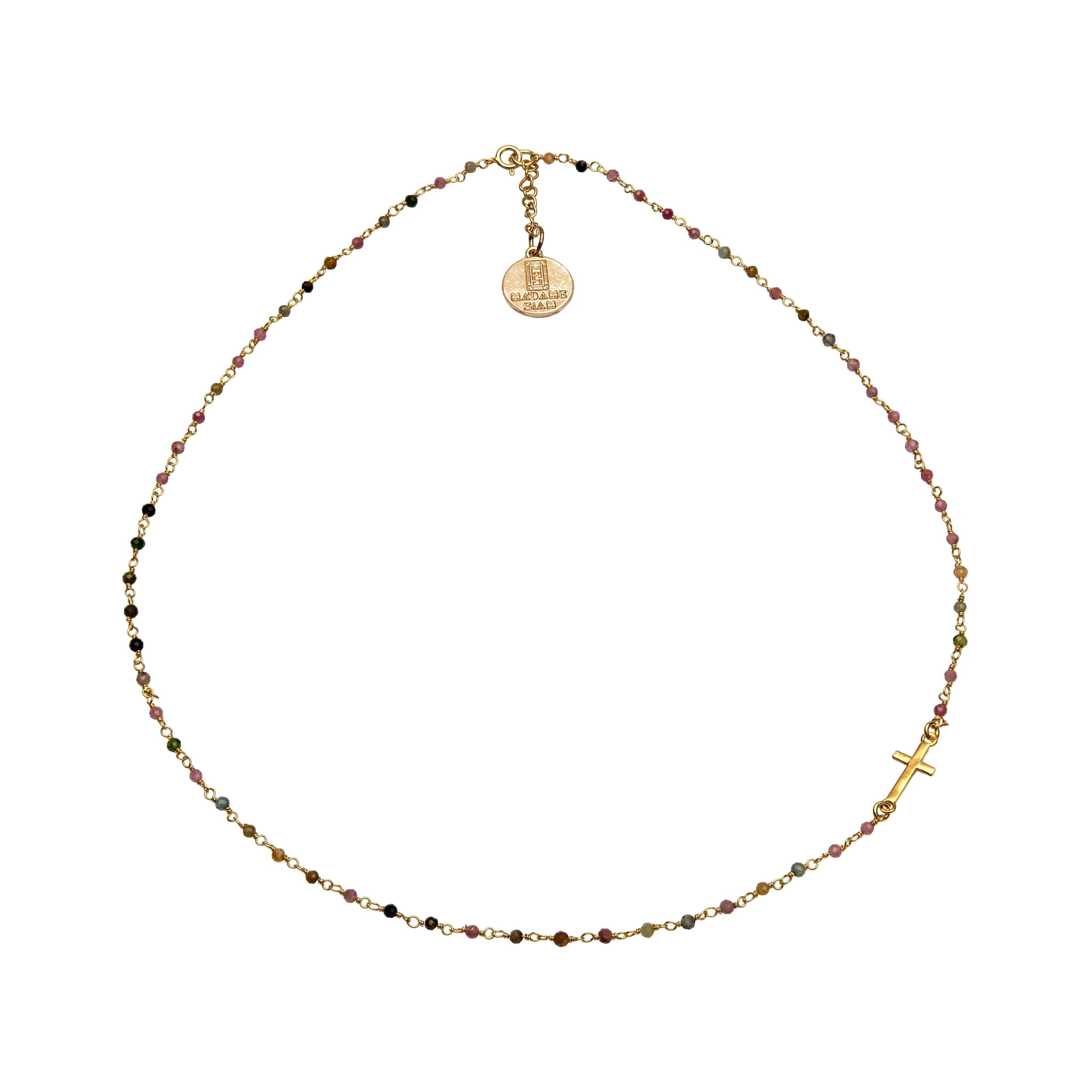 SIXTINE tourmaline chocker - MadamSiam