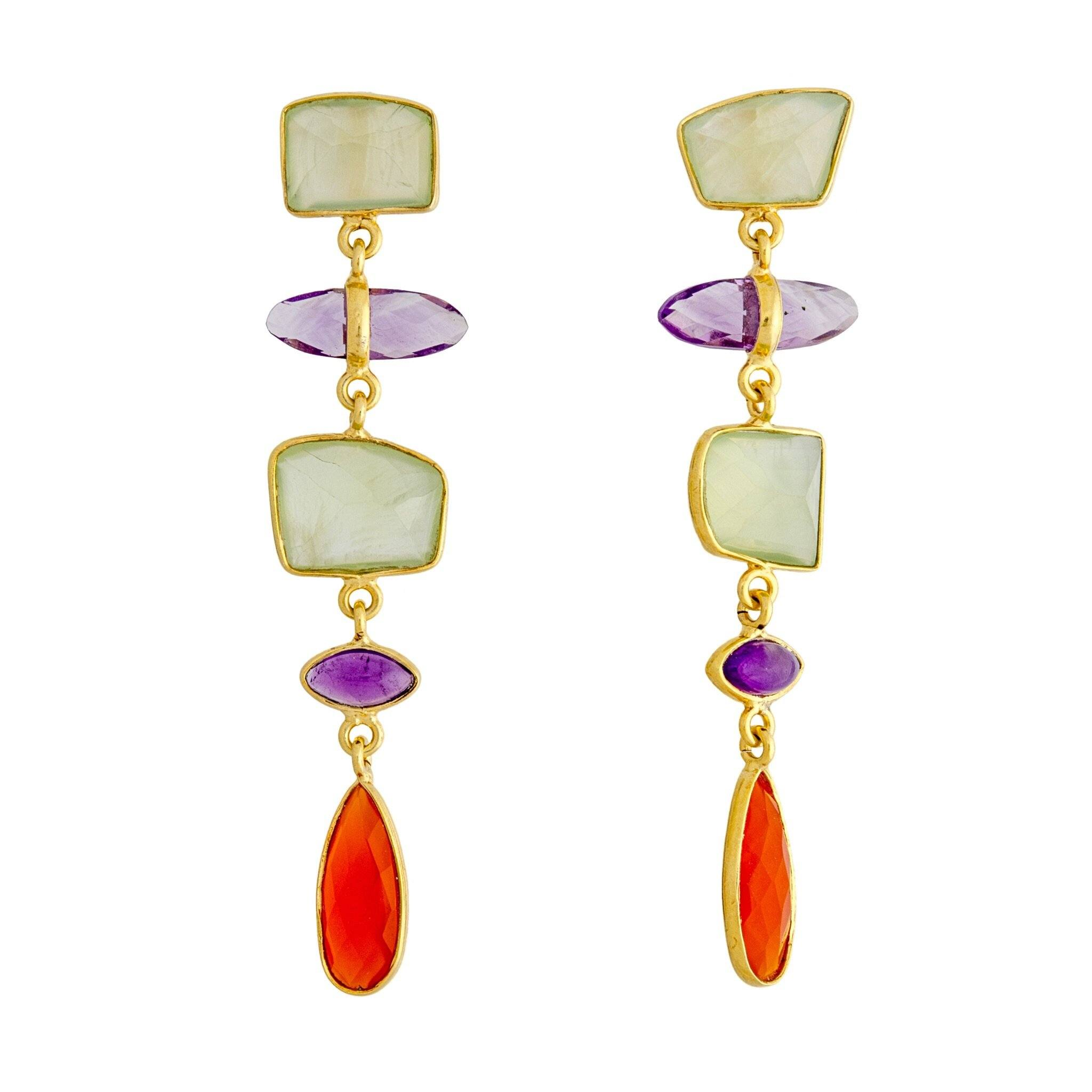 UDAIPUR peridot earrings - MadamSiam