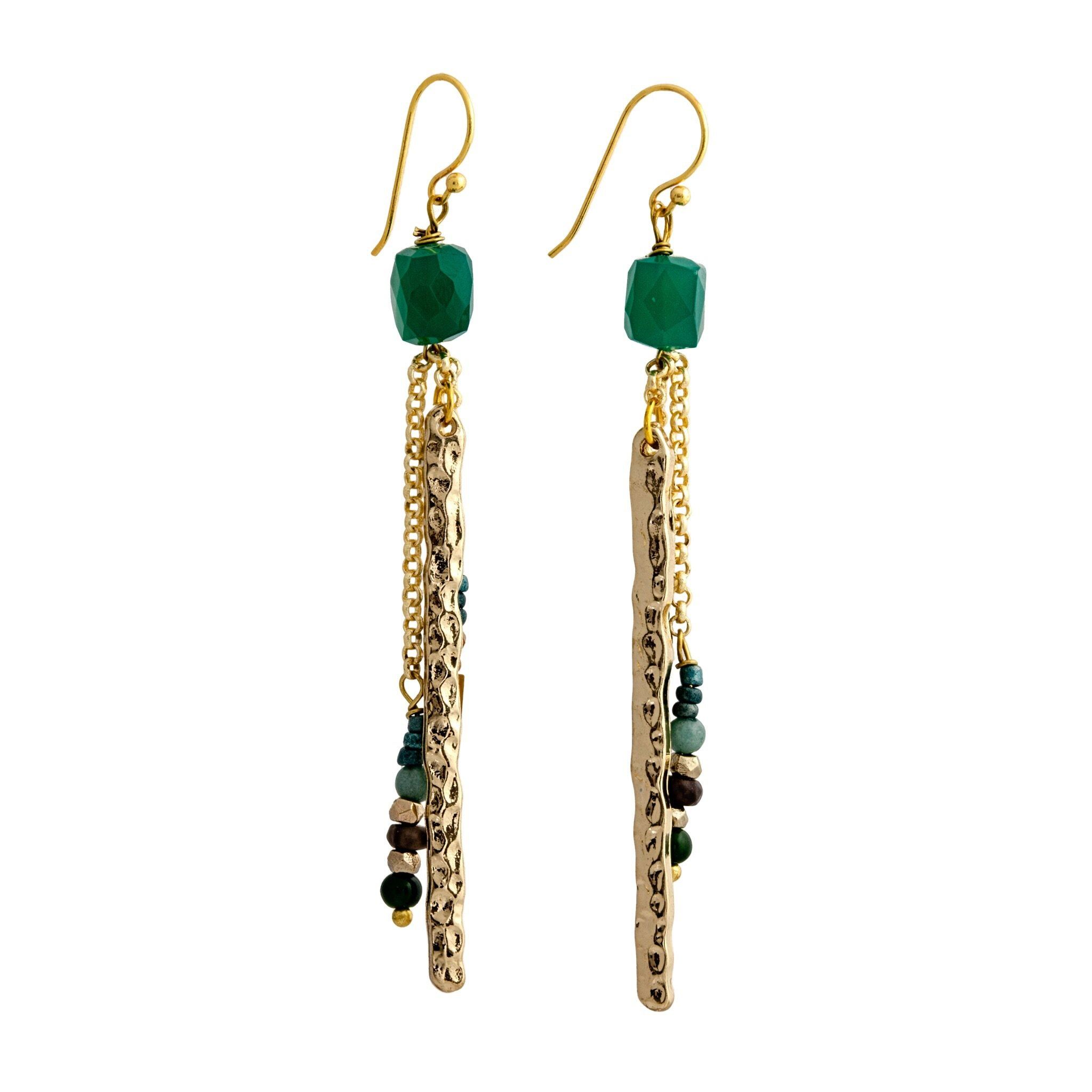 SIA green onyx earrings