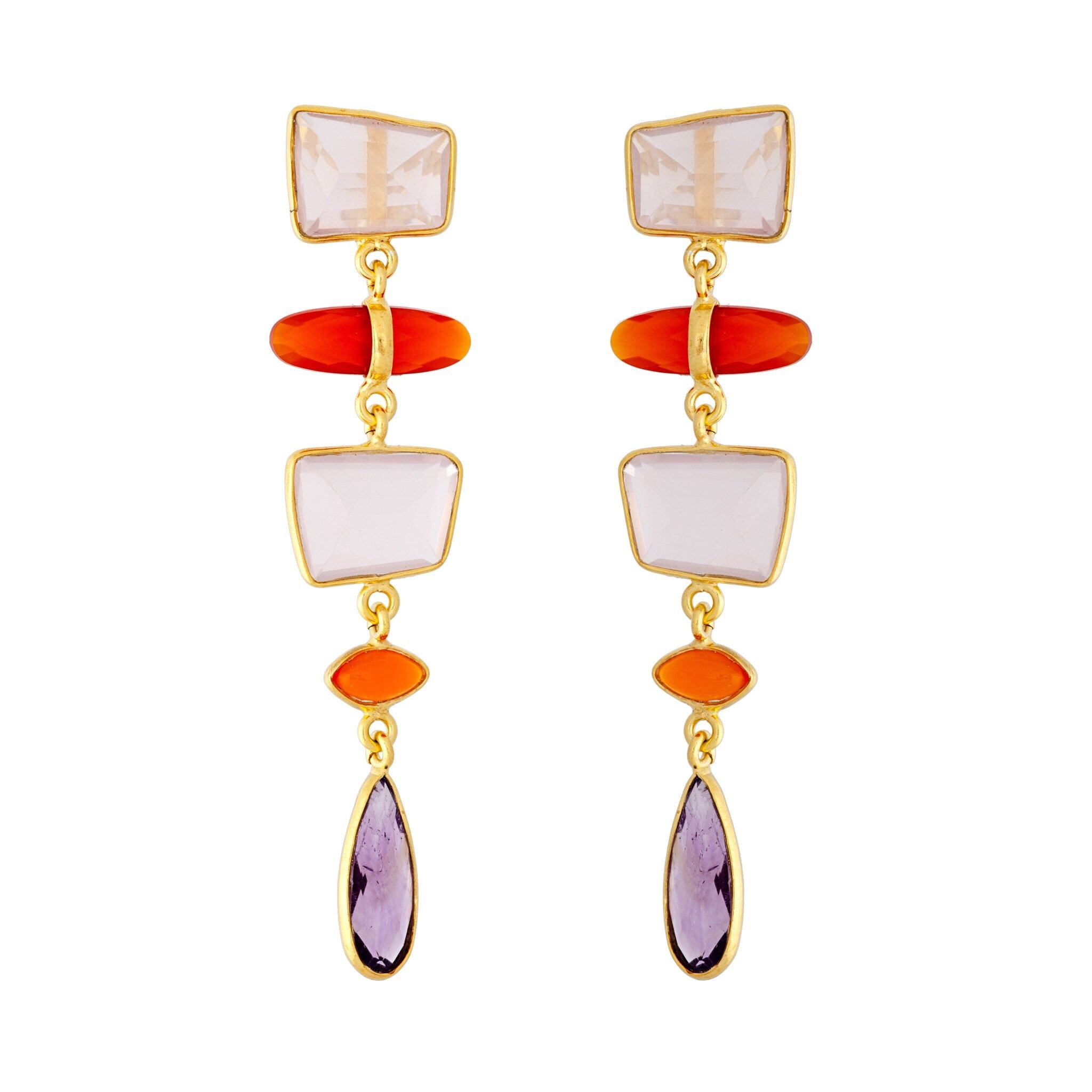 UDAIPUR amethyst earrings
