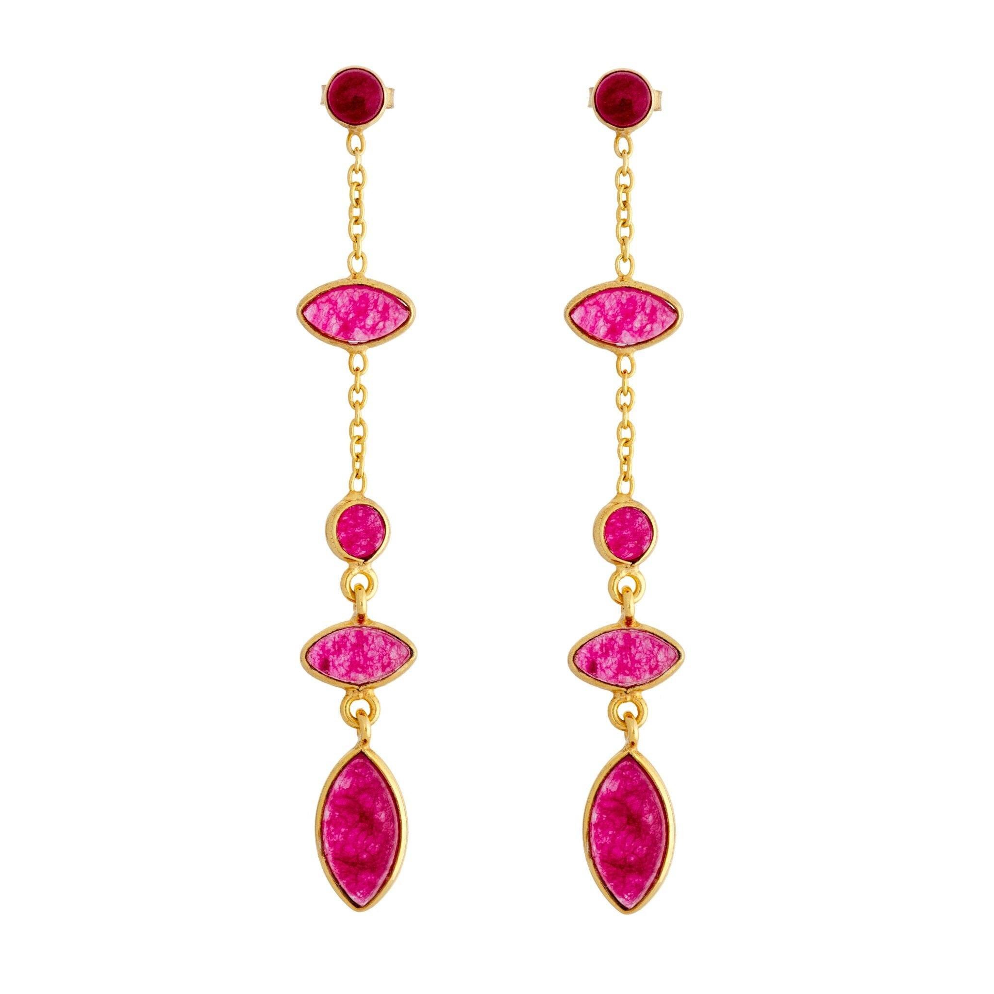 TA rubellite earrings