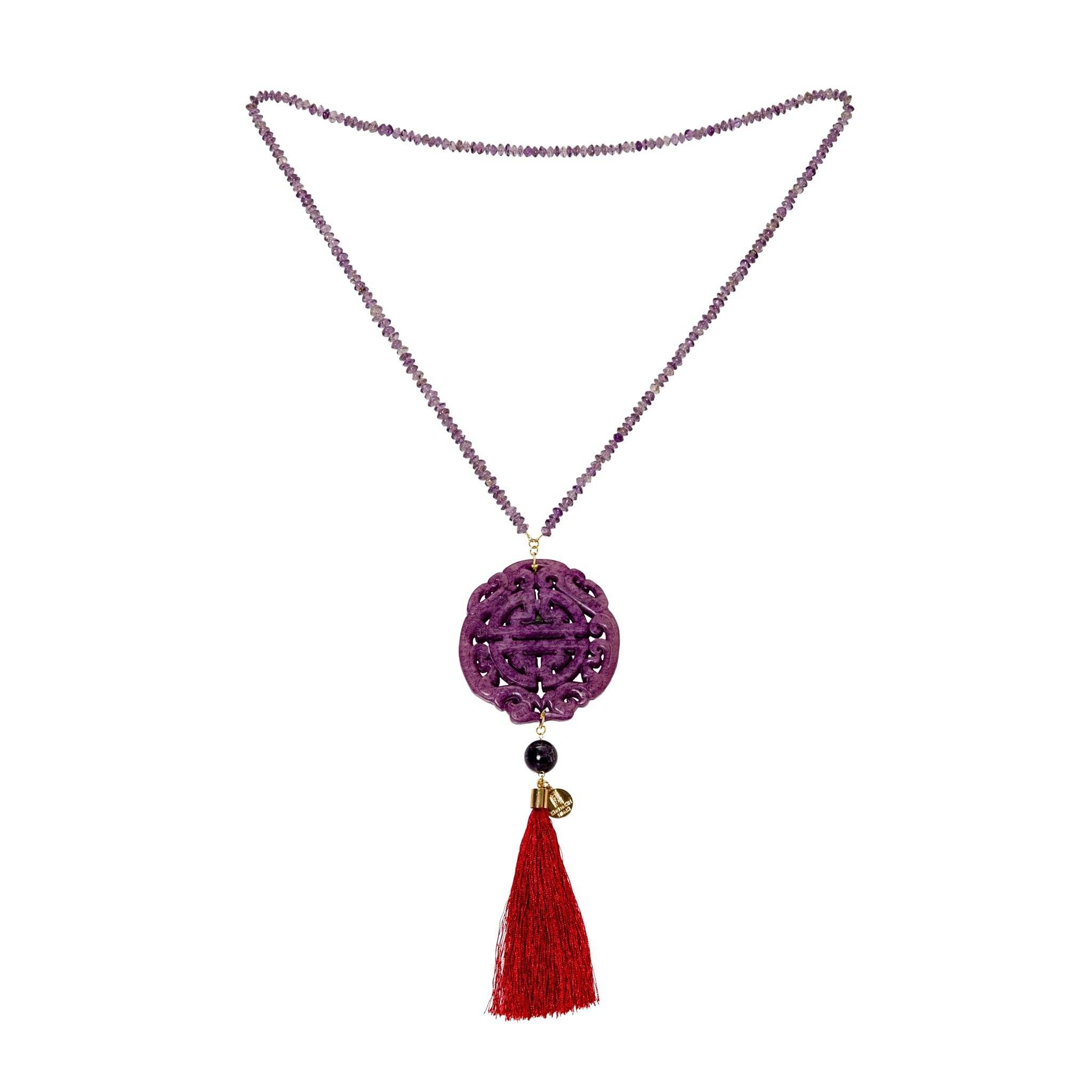HONG KONG purple amethyst necklace - MadamSiam