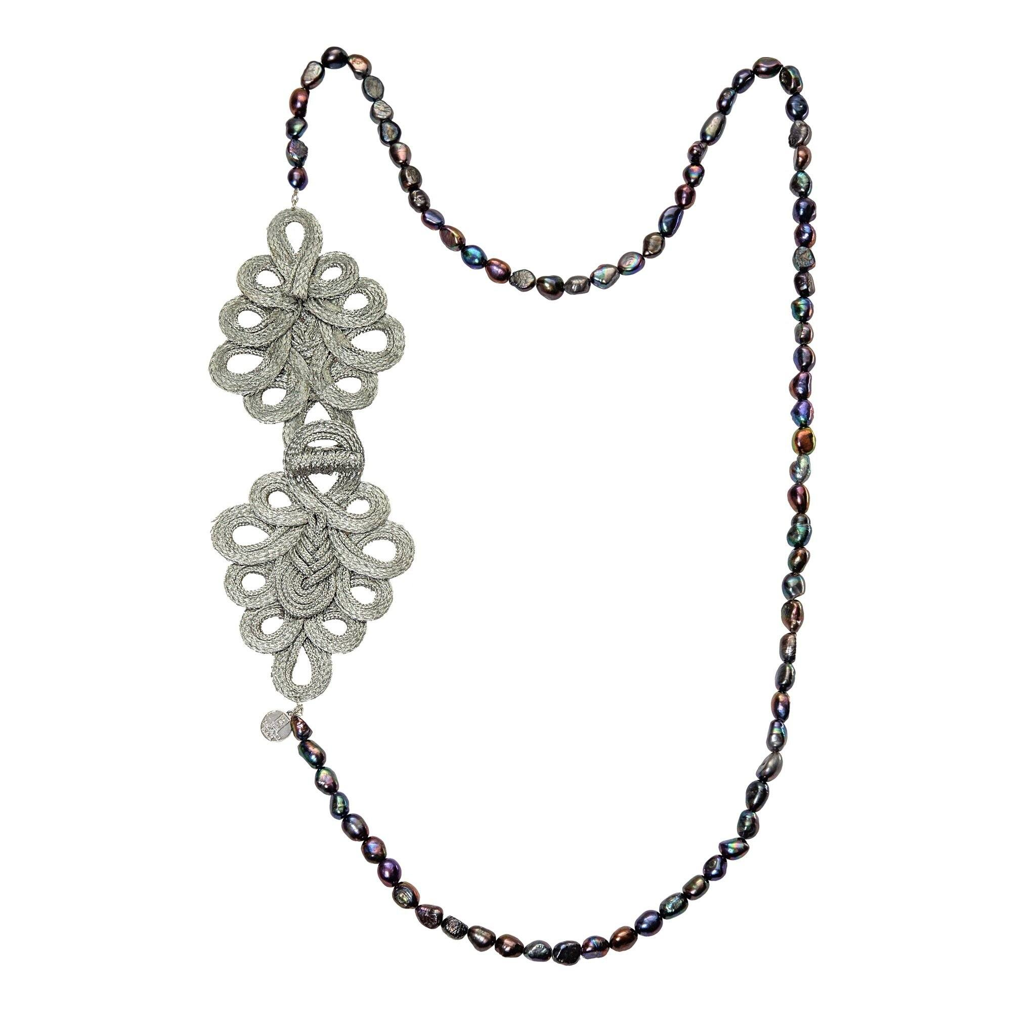 SAIGON grey freshwater pearls necklace - MadamSiam