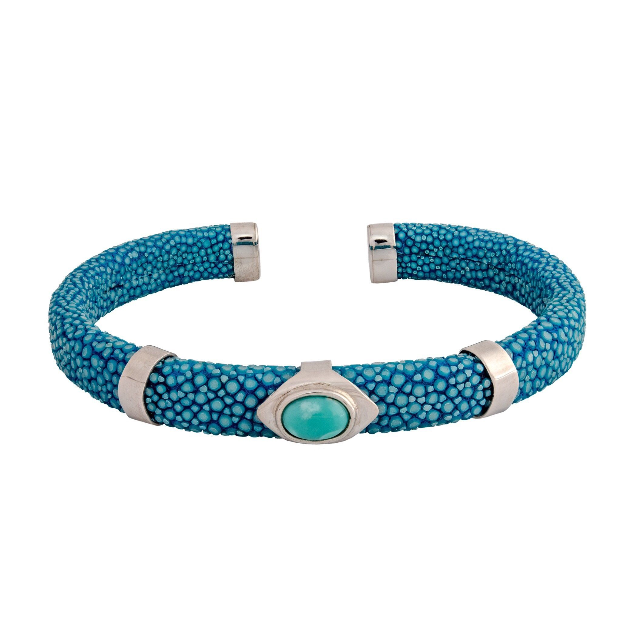 JAVA turquoise and stingray bangle - MadamSiam