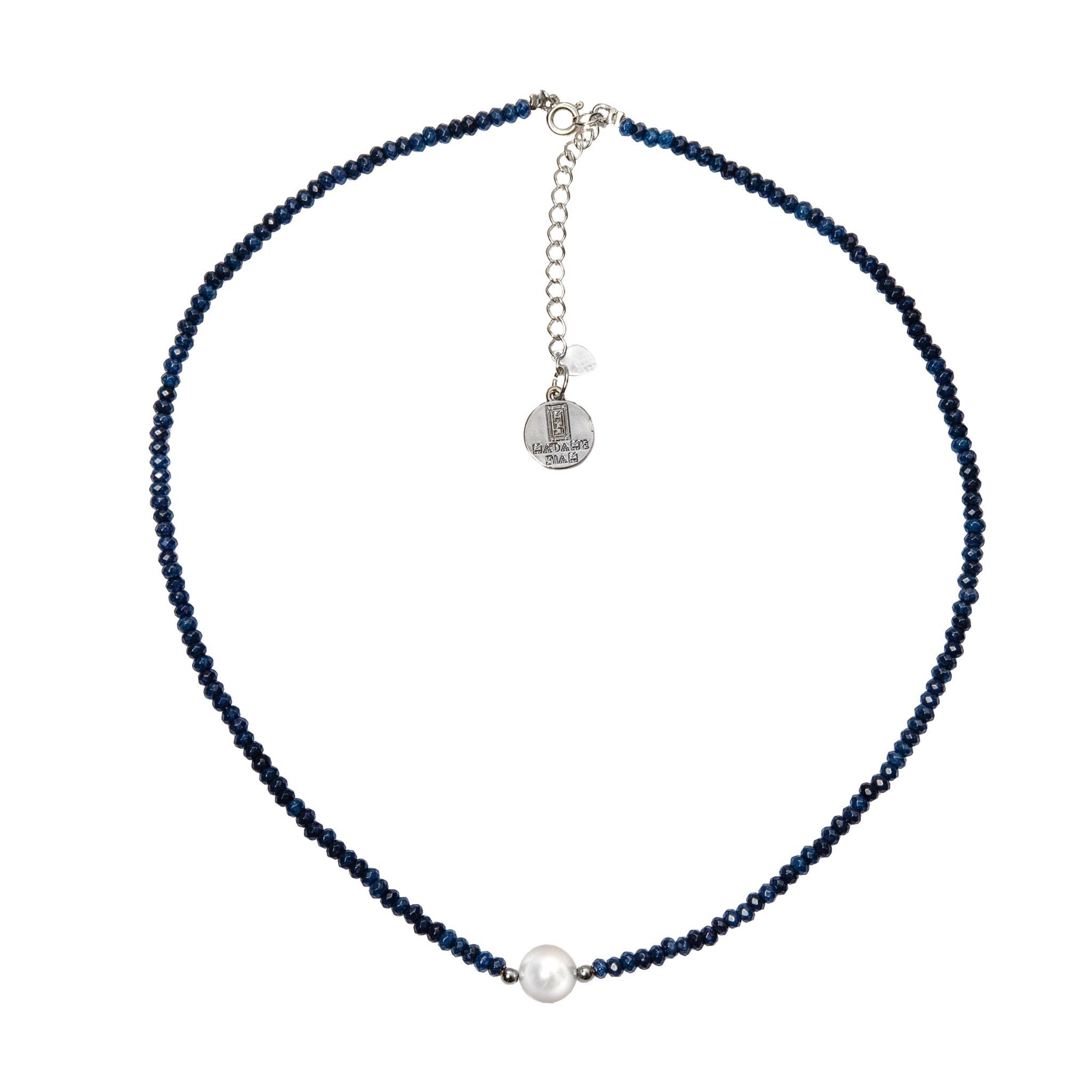 MINIMA pearl and iolite chocker - MadamSiam