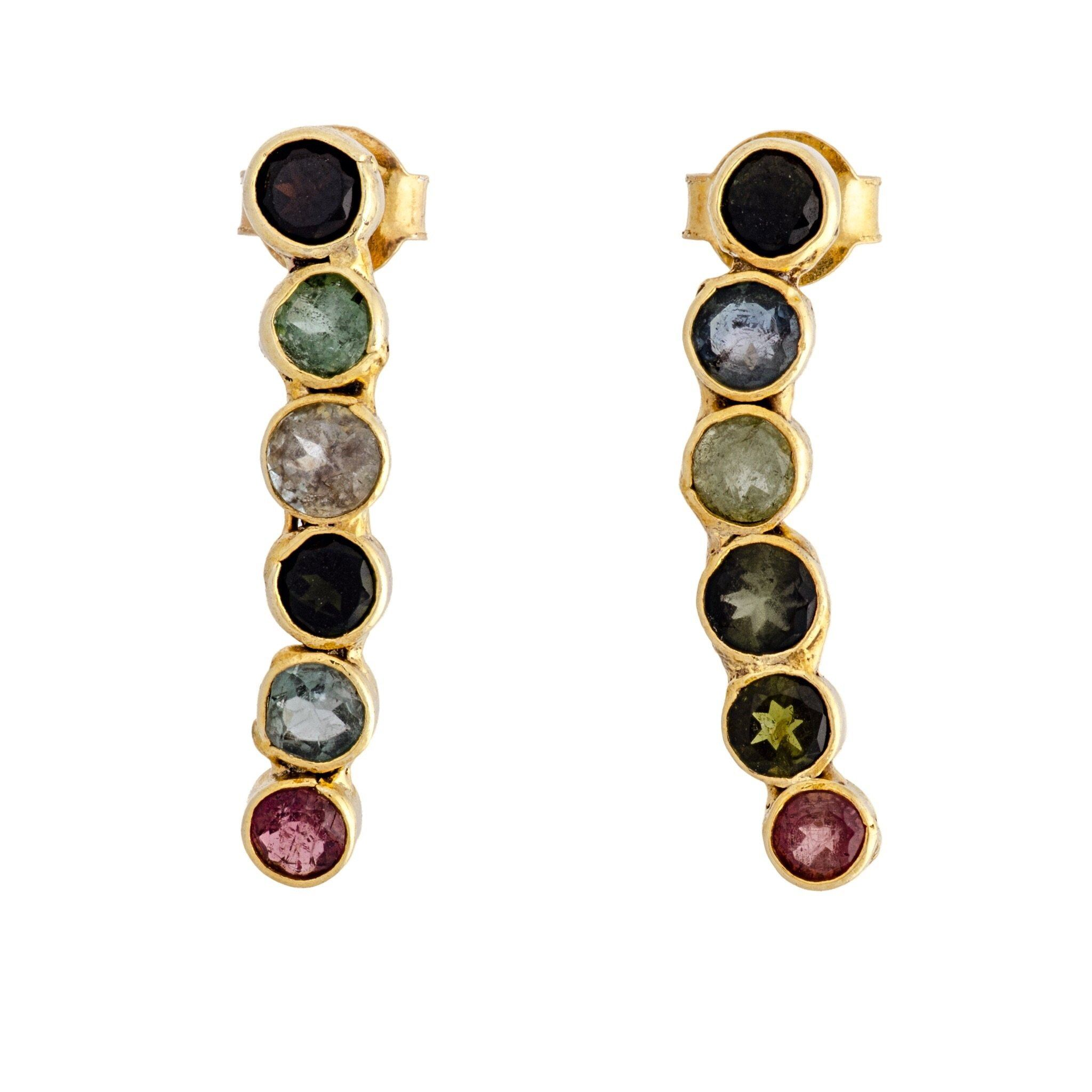LINEA tourmaline earrings - MadamSiam