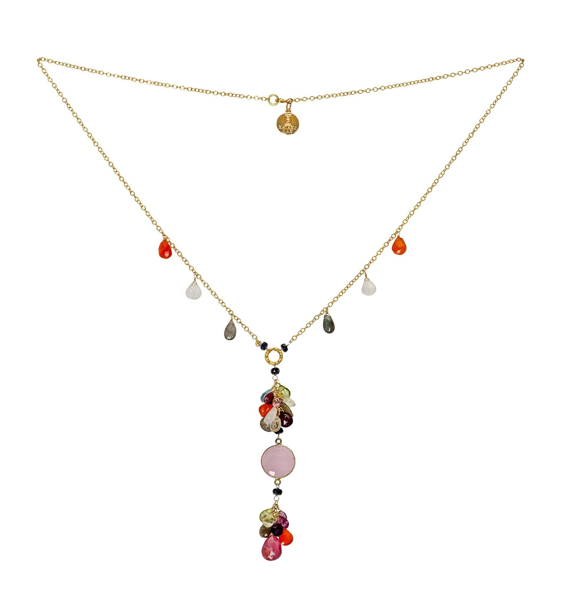 ROSA opal necklace with drops - MadamSiam