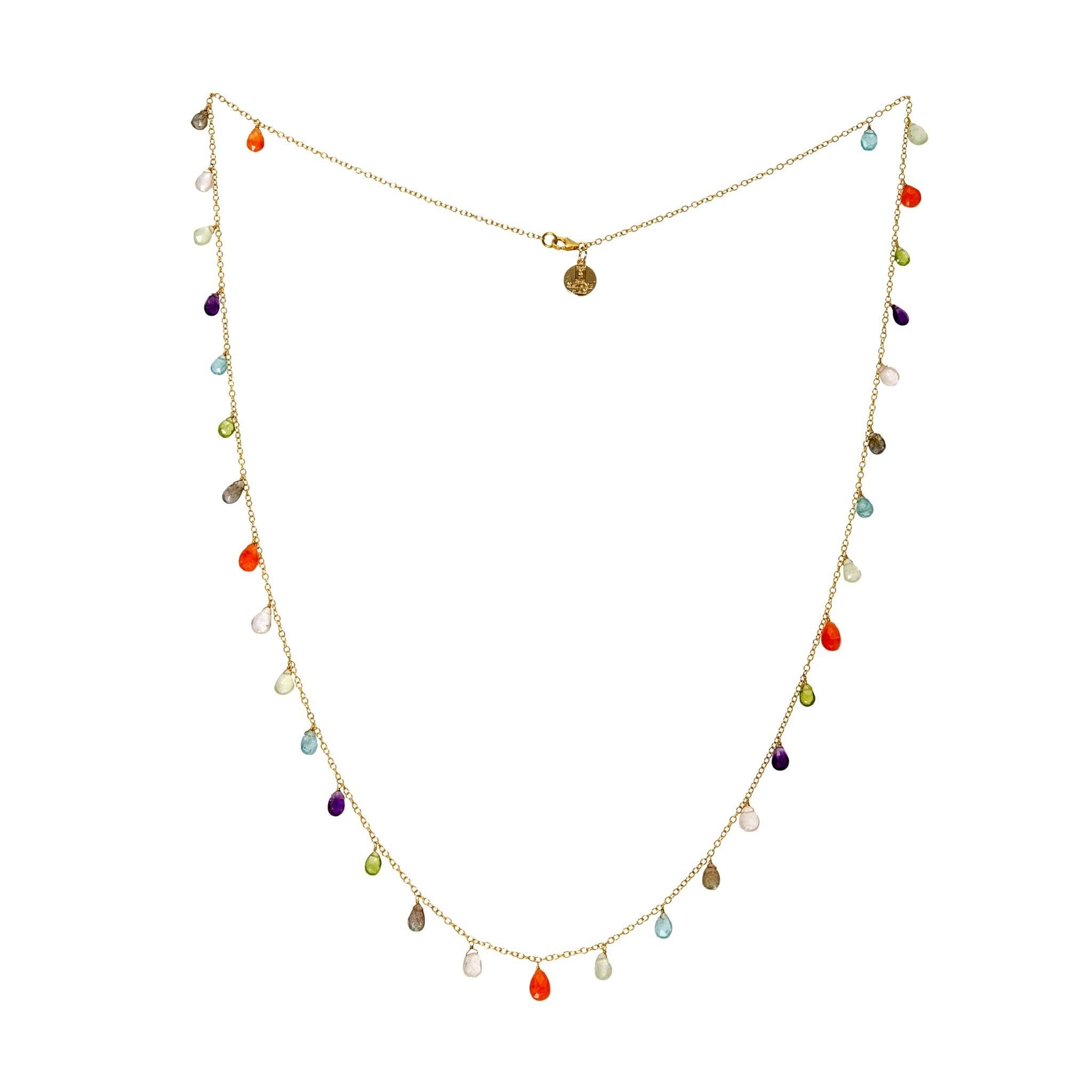Nahm semi precious multicolor necklace - MadamSiam