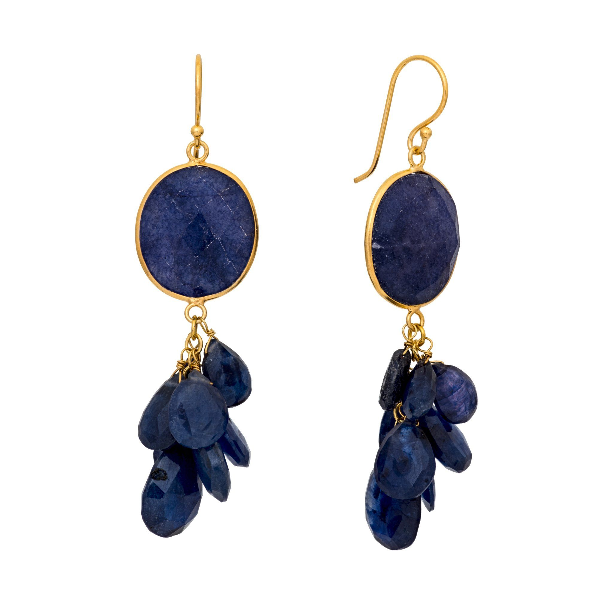 LUZ iolite cluster earrings - MadamSiam