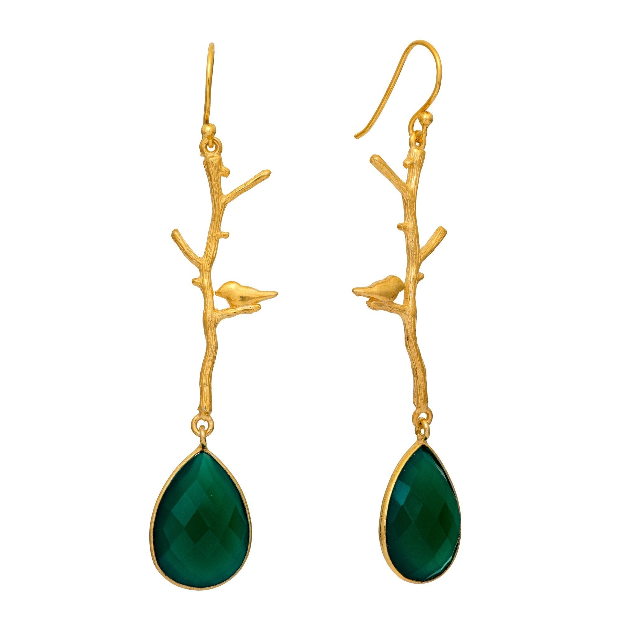 NOK green onyx earrings - MadamSiam