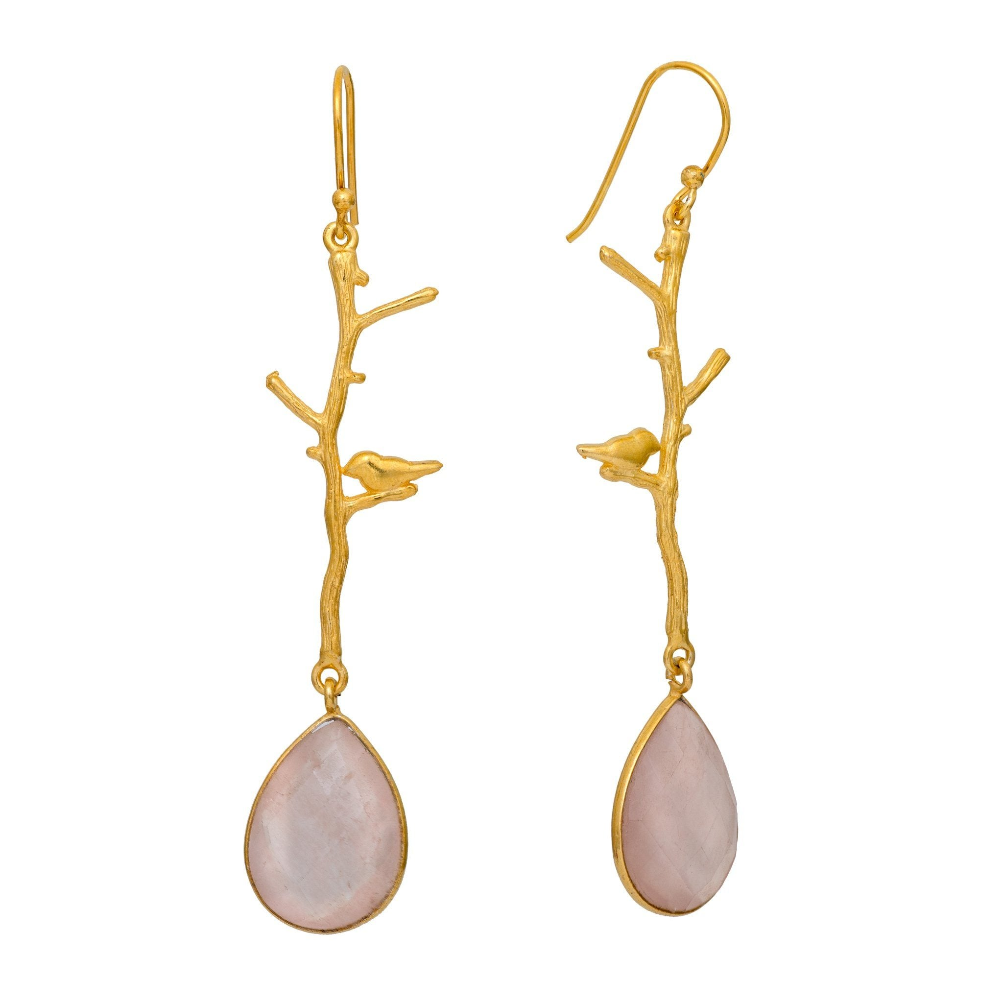 NOK rose quartz earrings - MadamSiam