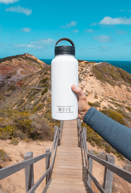 muve large insulated water bottle white mobile